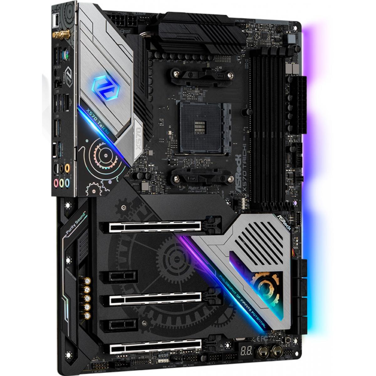 Placa Mãe ASRock X570 Taichi Wifi, Chipset X570, AMD AM4, ATX, DDR4