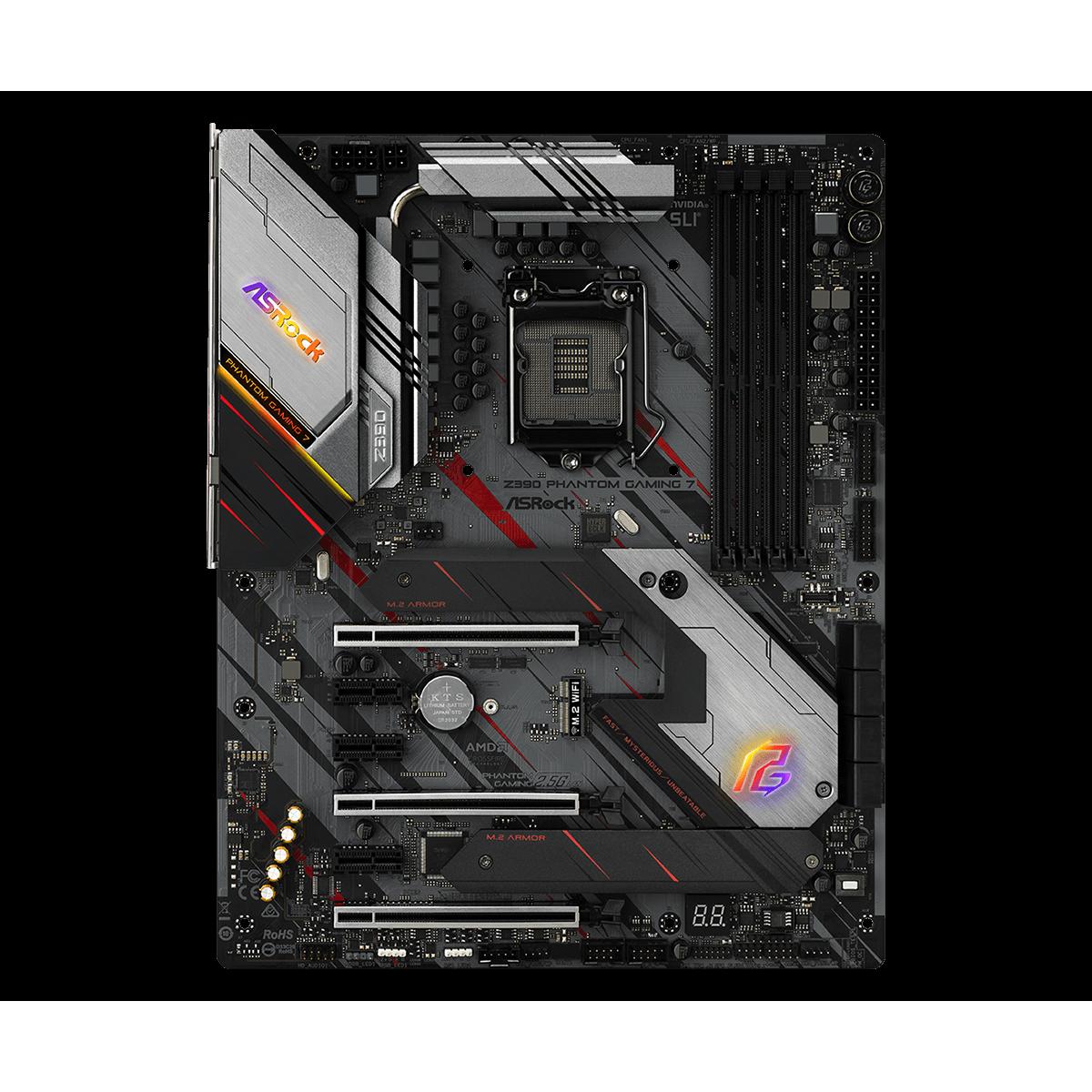 Placa Mãe Asrock Z390 Phantom Gaming 7, Chipset Z390, Intel LGA 1151, ATX, DDR4