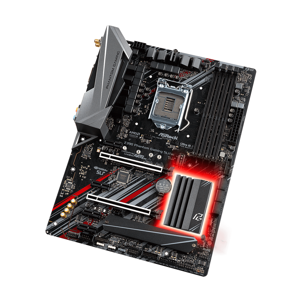Placa Mãe Asrock Z390 Phantom Gaming SLI/ac, Chipset Z390, Intel LGA 1151, ATX, DDR4