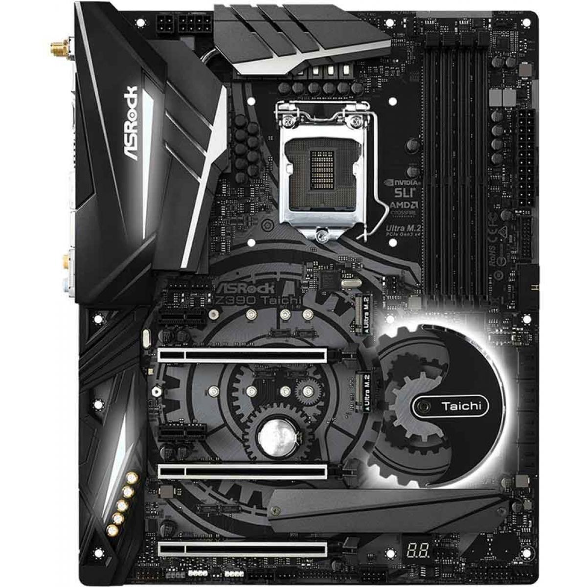 Placa Mãe ASRock Z390 Taichi Wifi, Chipset Z390, Intel LGA 1151, ATX, DDR4