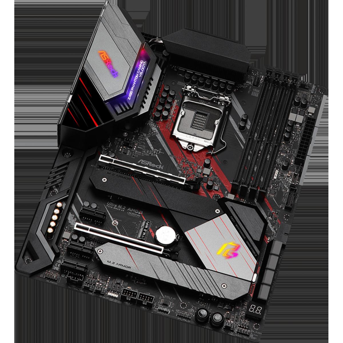 Placa Mãe AsRock Z490 PG Velocita, Chipset Z490, Intel LGA1200, ATX, DDR4
