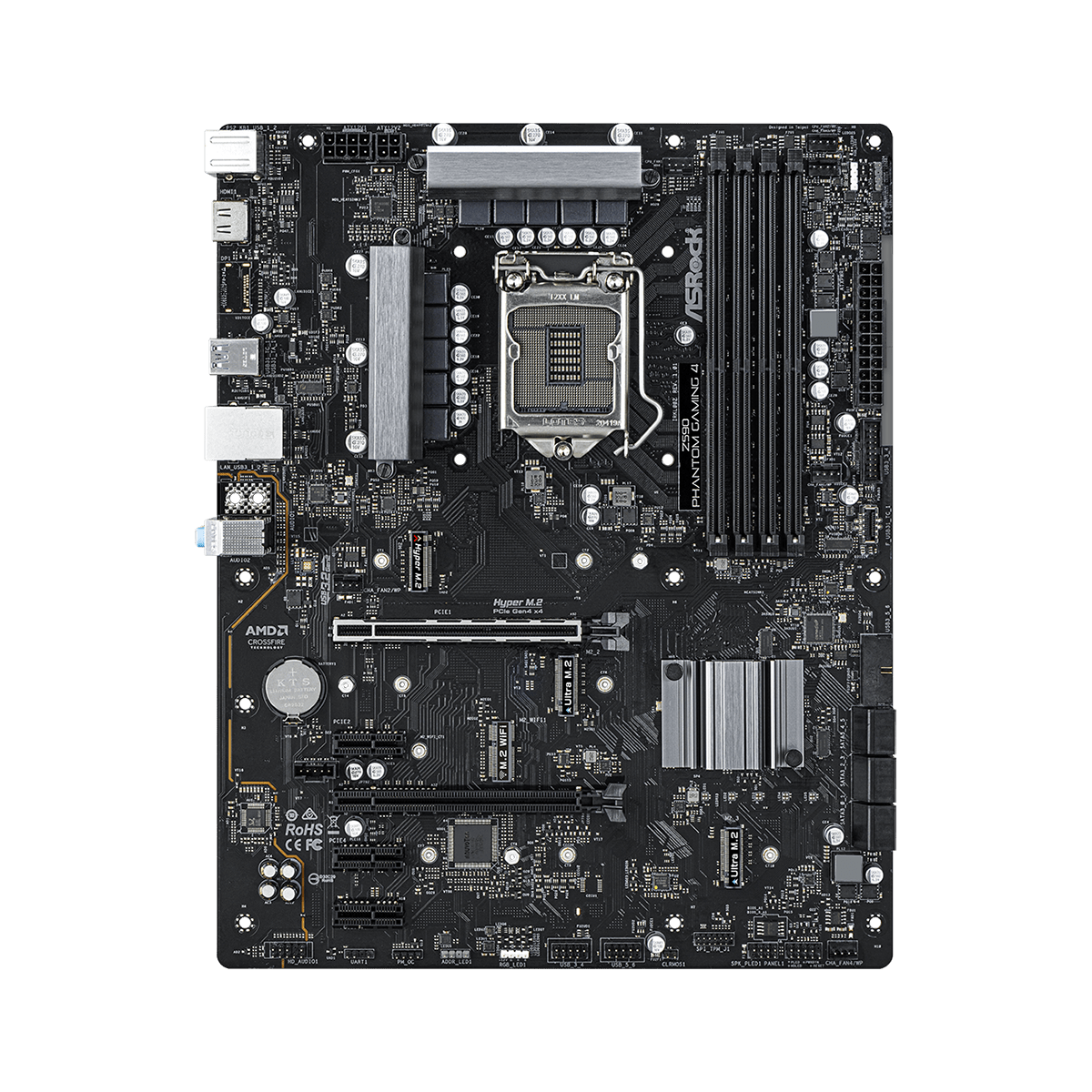 Placa Mãe ASRock Z590 Phantom Gaming 4, Chipset Intel Z590, Socket 1200, ATX, DDR4