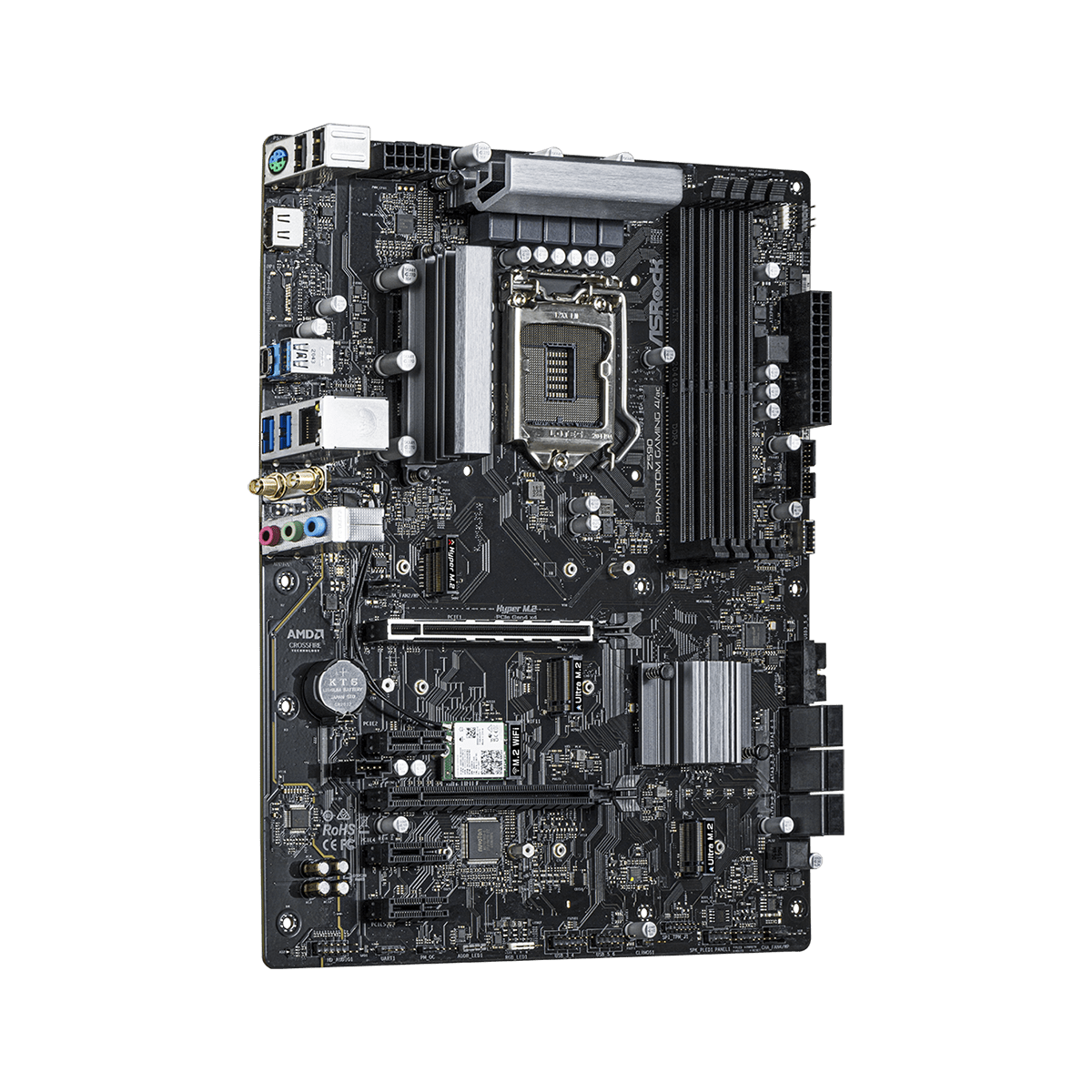Placa Mãe ASRock Z590 Phantom Gaming 4/ac, Chipset Intel Z590, Socket 1200, ATRX, DDR4