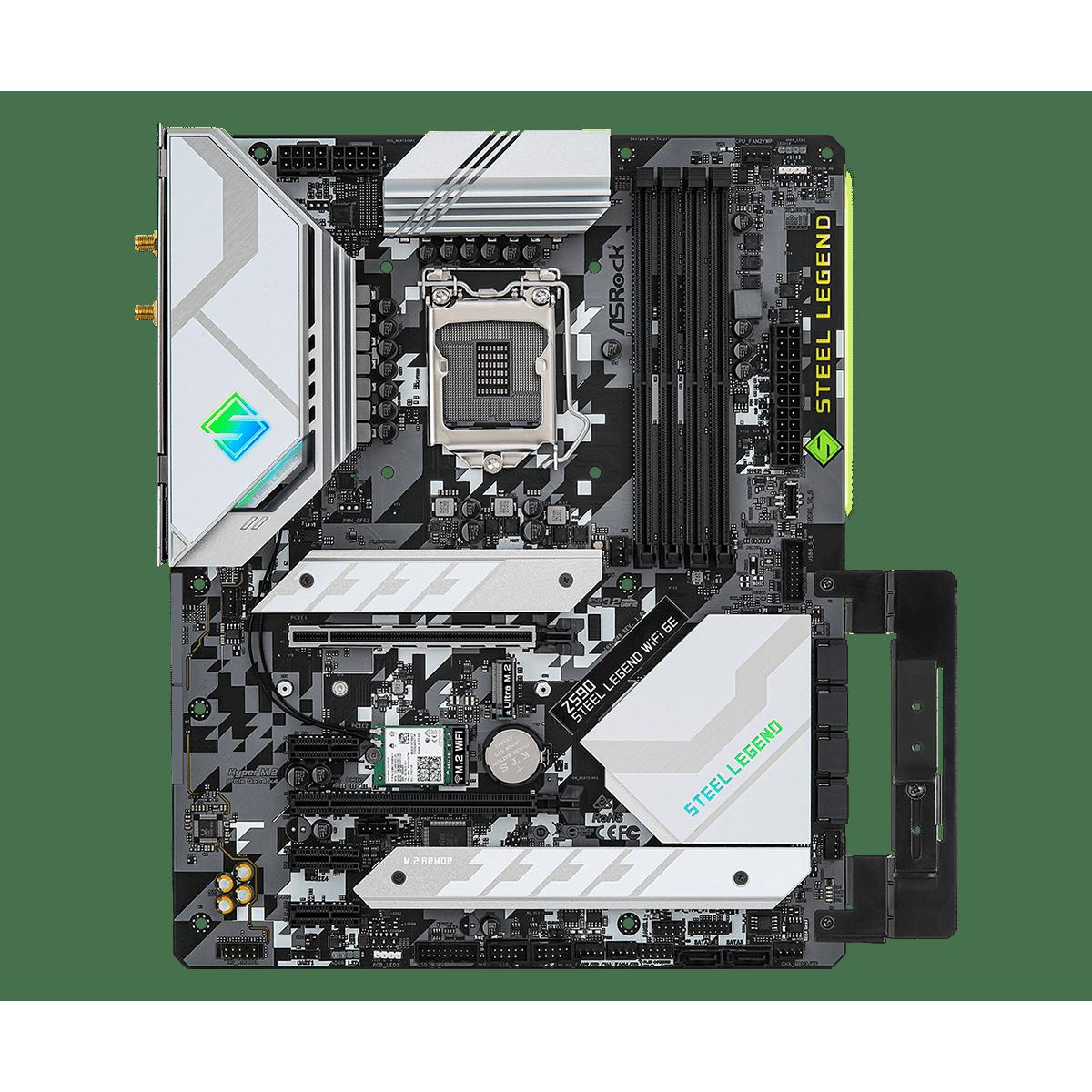 Placa Mãe ASRock Z590 Steel Legend WiFi 6E, Chipset Intel Z590, Socket 1200, ATX, DDR4