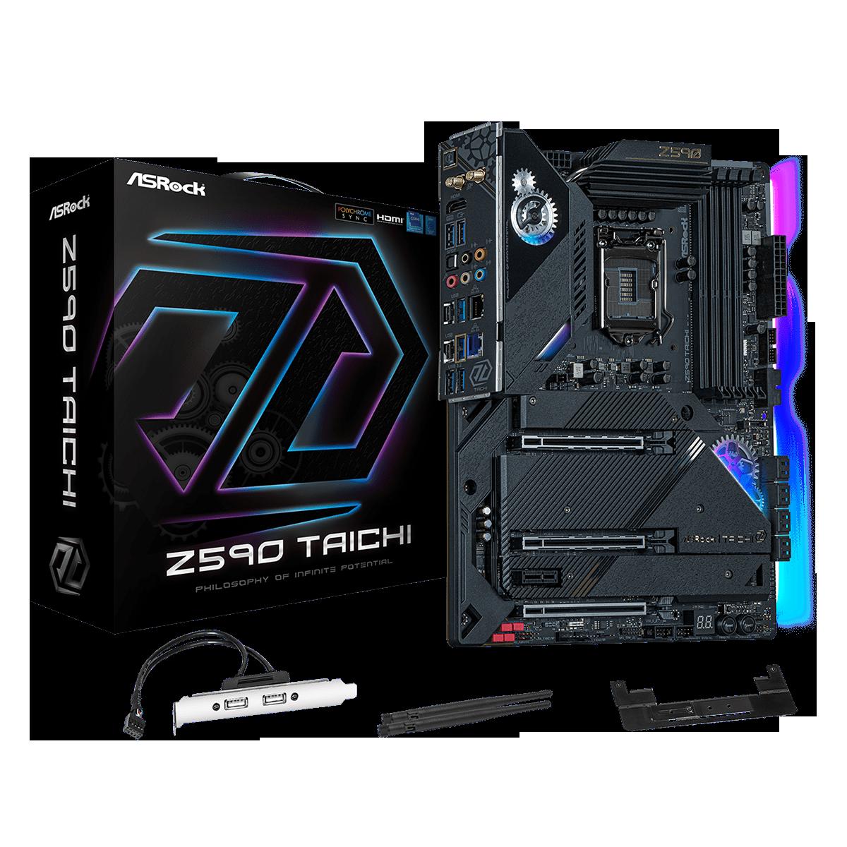 Placa Mãe ASRock Z590 Taichi, Chipset Intel Z590, Socket 1200, ATX, DDR4