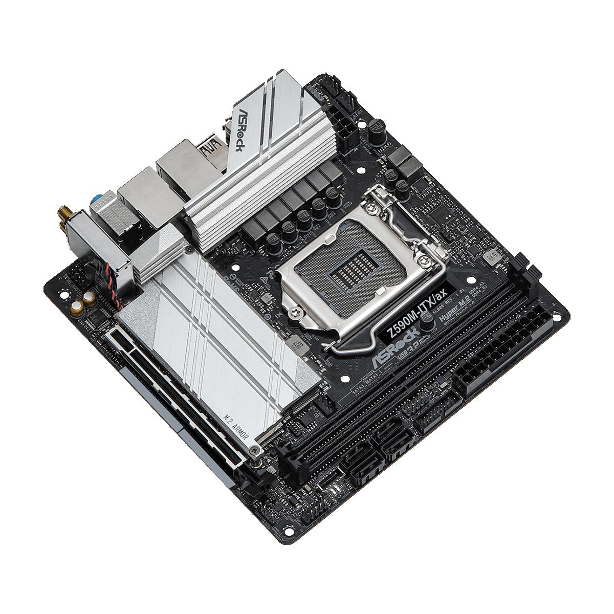 Placa Mãe ASRock Z590M-ITX/ax, Chipset Z590, Socket 1200, Mini-ITX, DDR4