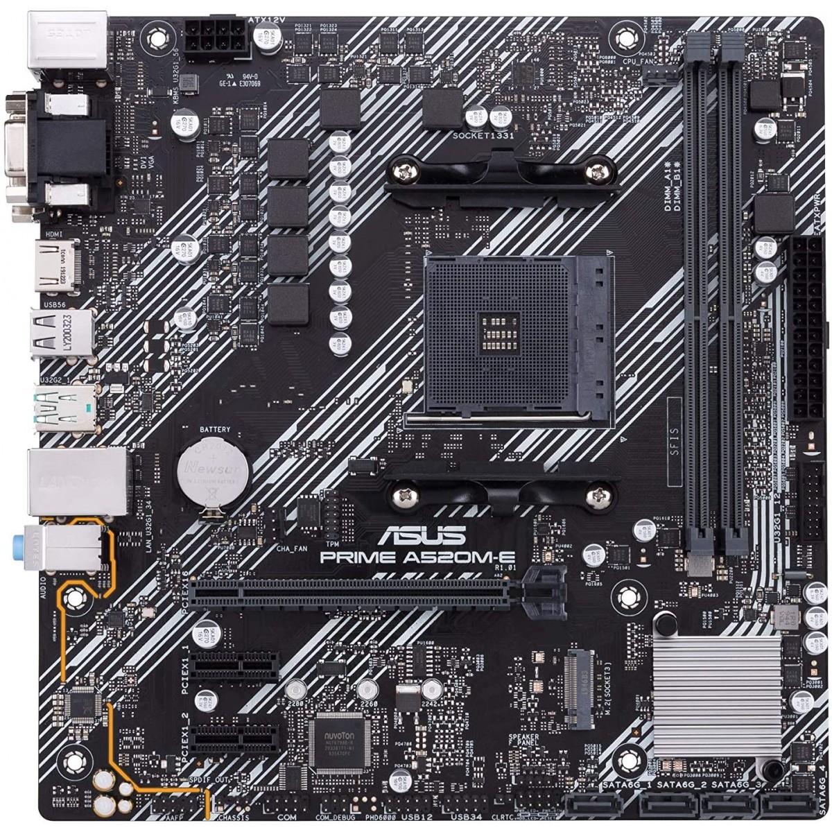 Placa Mãe Asus Prime A520M-A, Chipset A520, AMD AM4, mATX, DDR4, 90MB14Z0-M0EAY0