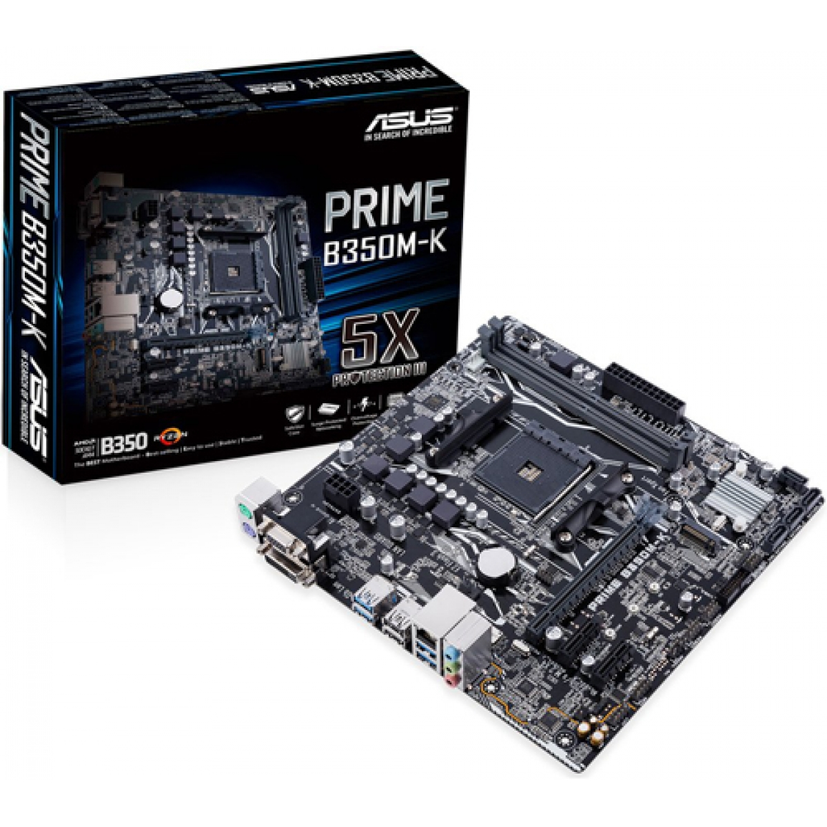 Placa Mãe Asus Prime B350M-K, Chipset B350, AMD AM4, mATX, DDR4