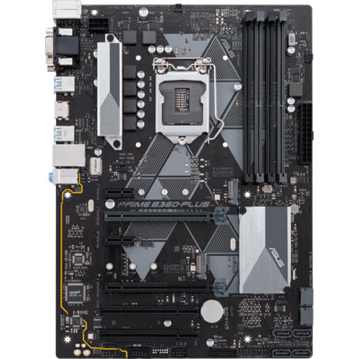Placa Mãe Asus Prime B360-PLUS, Chipset B360, Intel LGA 1151, ATX, DDR4