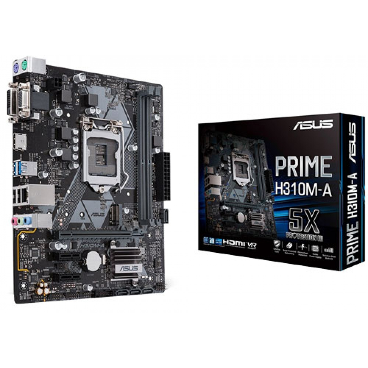 Placa Mãe Asus Prime H310M-A, Chipset H310, Intel LGA 1151, mATX, DDR4