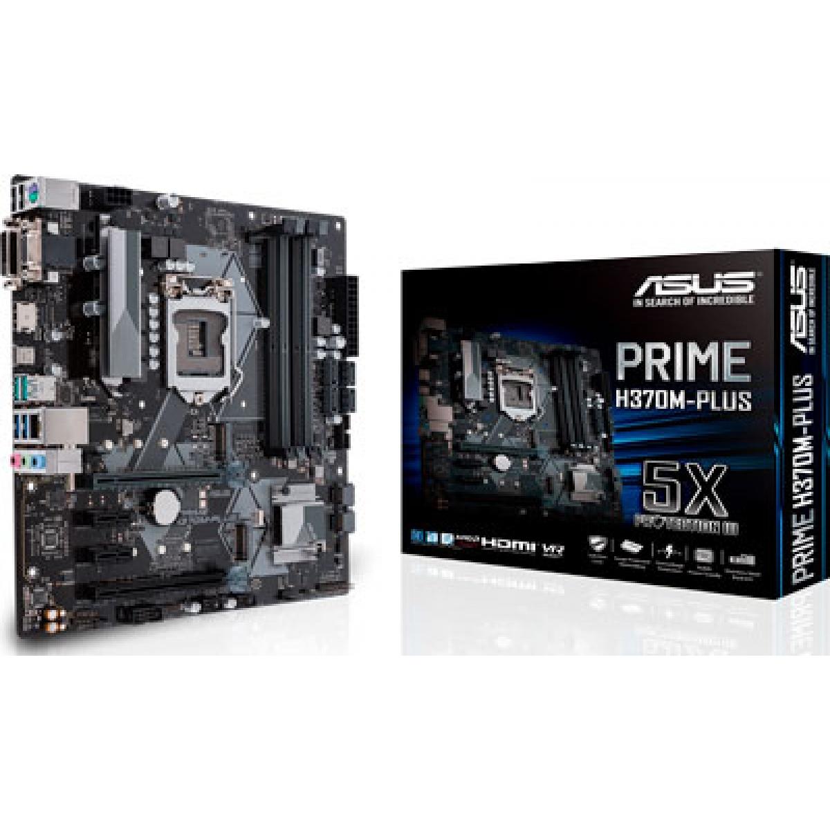 Placa Mãe Asus Prime H370M-PLUS, Chipset H370, Intel LGA 1151, mATX, DDR4