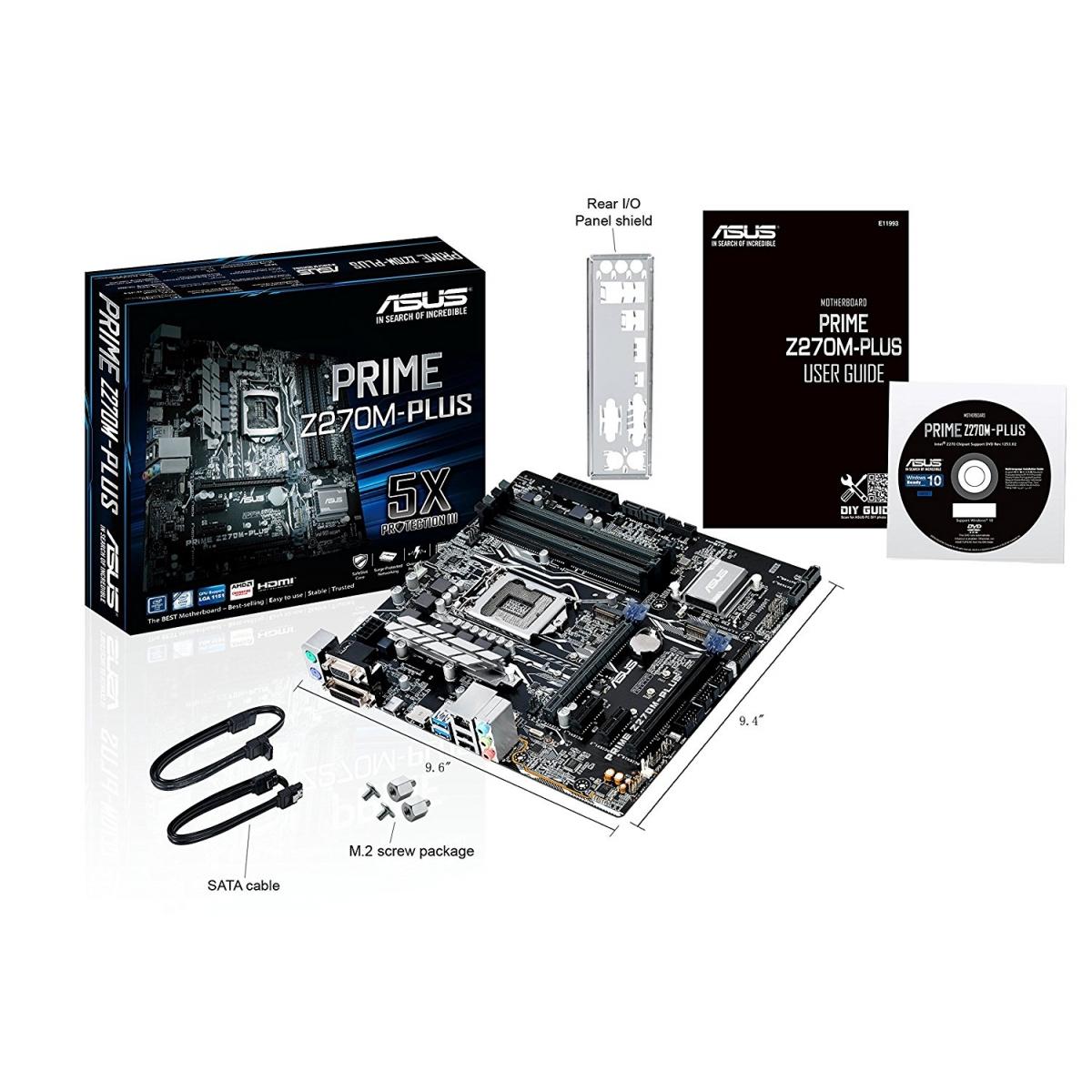 Placa Mãe Asus Prime Z270M-PLUS/BR, Chipset Z270, Intel LGA 1151, mATX, DDR4