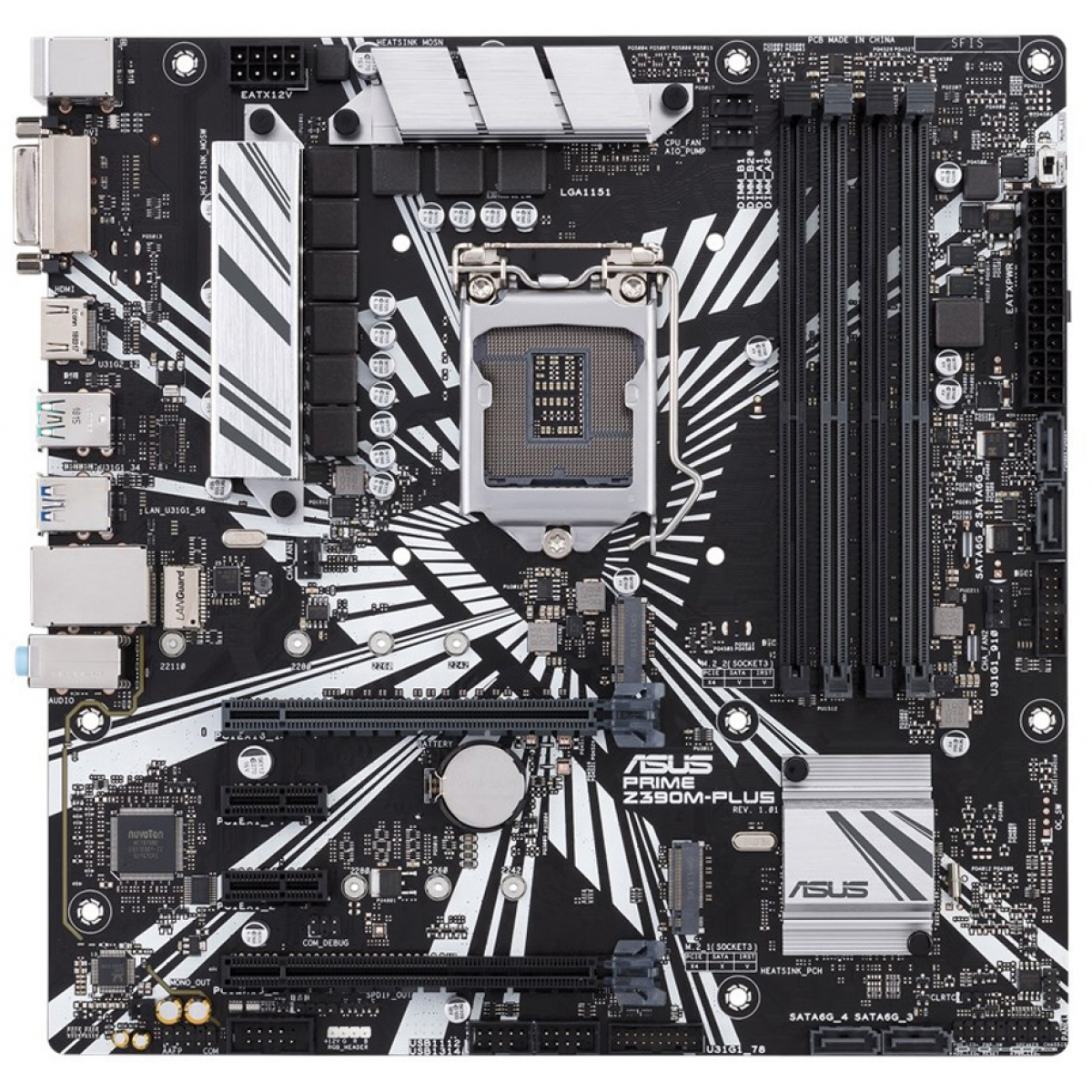 Placa Mãe Asus Prime Z390M-Plus, Chipset Z390, Intel LGA 1151, mATX, DDR4
