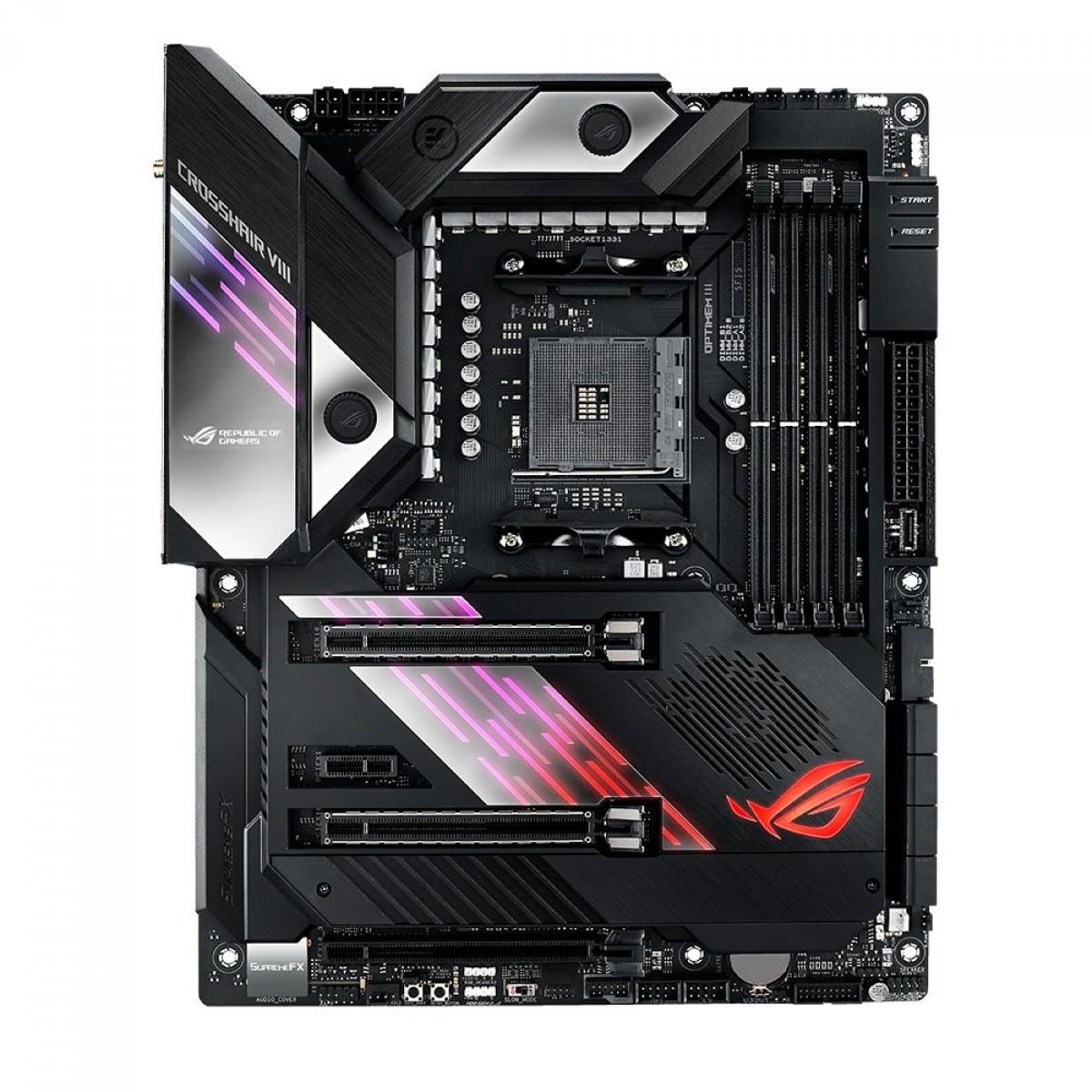 Placa Mãe Asus ROG Crosshair VIII Formula (Wi-Fi), Chipset X570, AMD AM4, ATX, DDR4