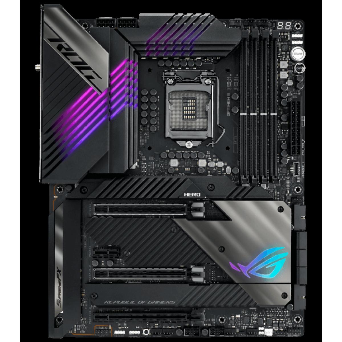 Placa Mãe Asus ROG MAXIMUS XIII HERO, Chipset Z590, Intel LGA 1200, ATX, DDR4, 90MB15X0-M0EAY0