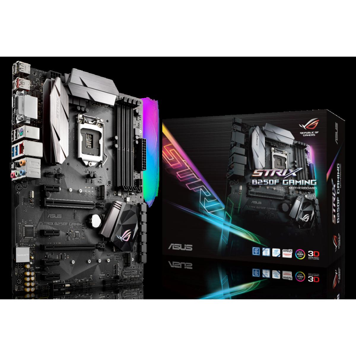 Placa Mãe Asus ROG Strix B250F Gaming, Chipset B250, Intel LGA 1151, ATX, DDR4
