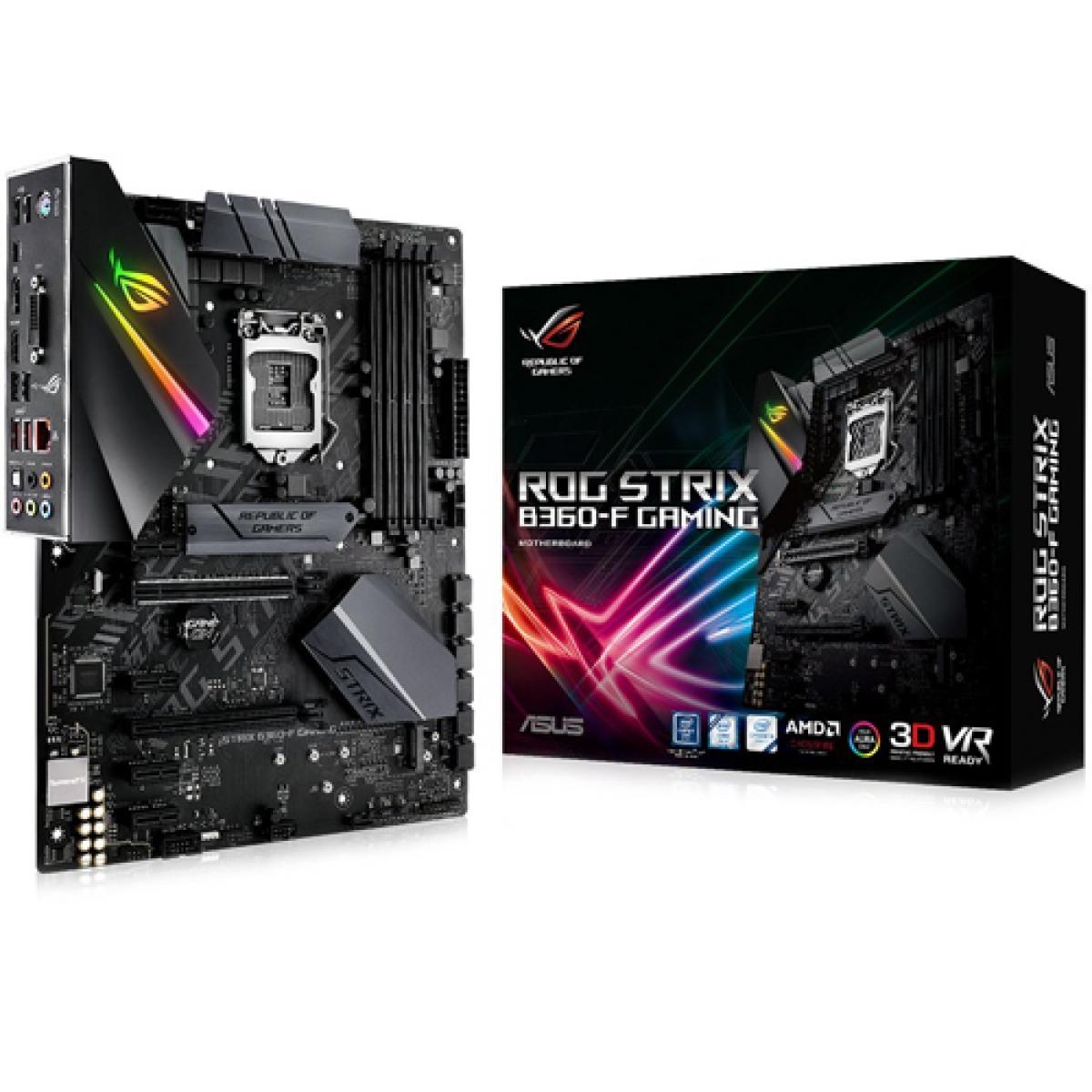 Placa Mãe Asus ROG STRIX B360-F GAMING, Chipset B360, Intel LGA 1151, ATX, DDR4