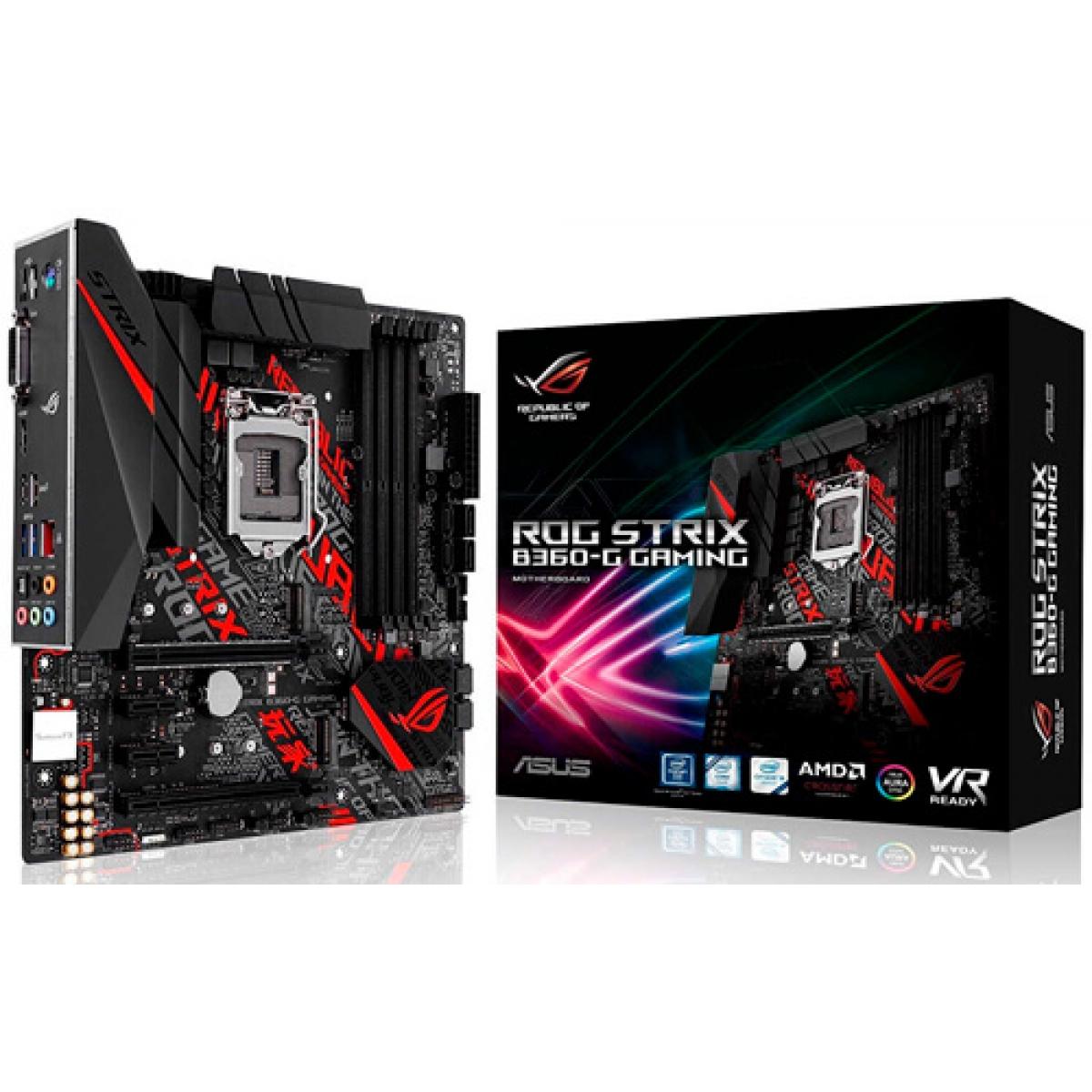 Placa Mãe Asus ROG STRIX B360-G GAMING, Chipset B360, Intel LGA 1151, mATX, DDR4