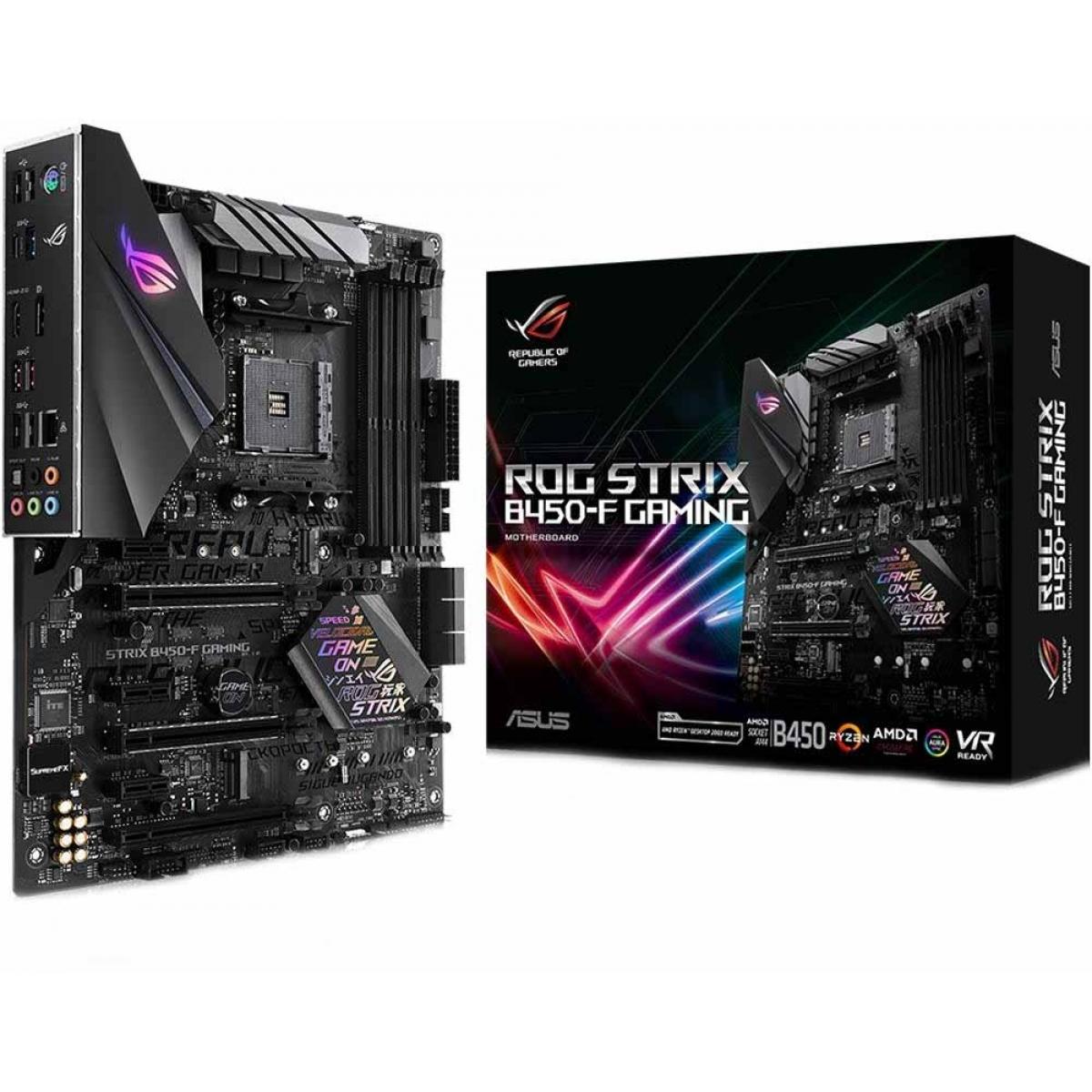 Placa Mãe Asus Rog Strix B450-F GAMING, Chipset B450, AMD AM4, ATX, DDR4