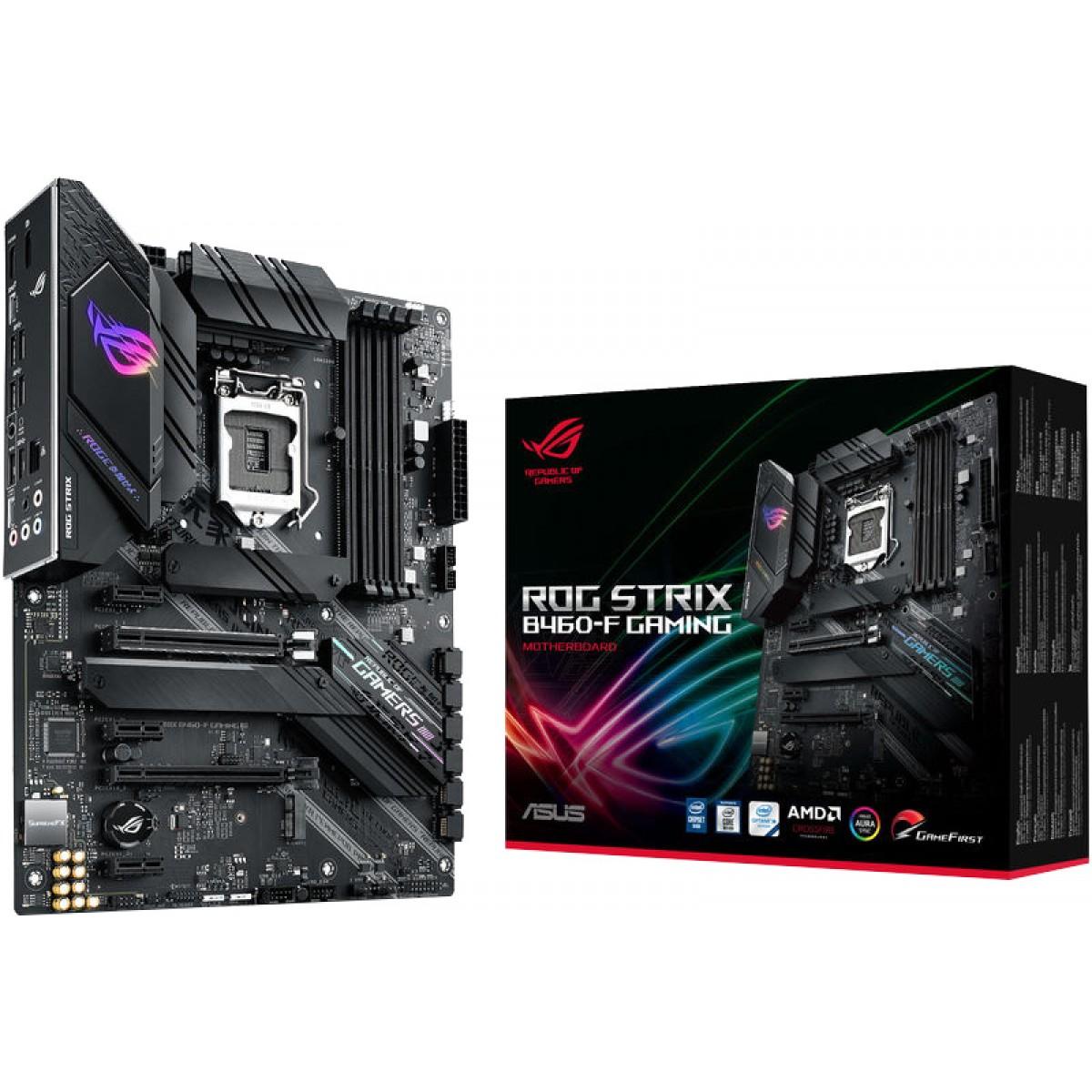 Placa Mãe Asus Rog Strix B460-F Gaming, Chipset B460, Intel LGA 1200, ATX, DDR4