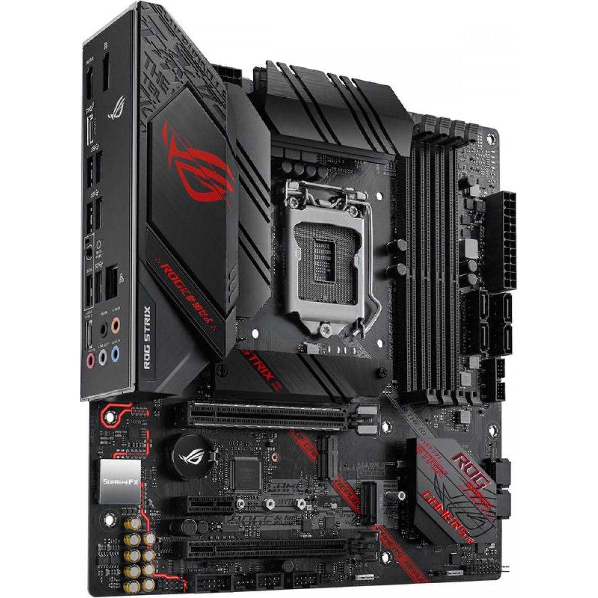 Placa Mãe Asus Rog Strix B460-G Gaming, Chipset B460, Intel LGA 1200, mATX, DDR4
