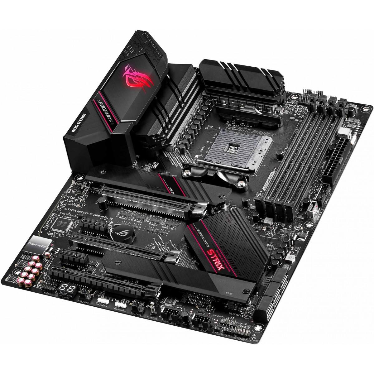 Placa Mãe Asus Rog Strix B550-E Gaming, Chipset B550, AMD AM4, ATX, DDR4
