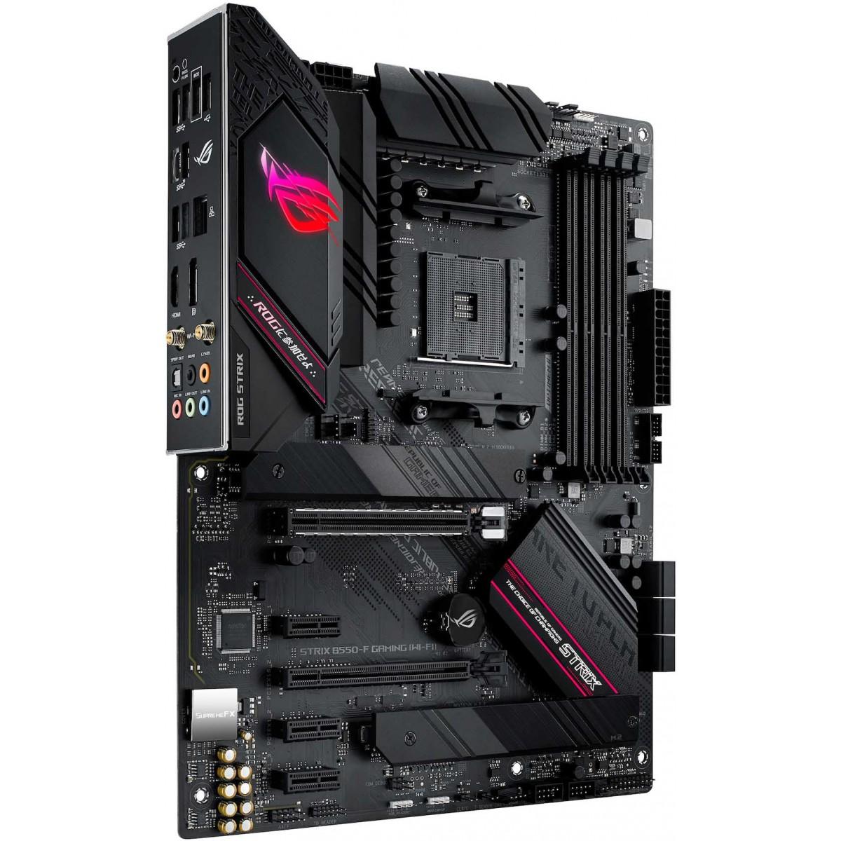 Placa Mãe Asus Rog Strix B550-F Gaming WI-FI, Chipset B550, AMD AM4, ATX, DDR4