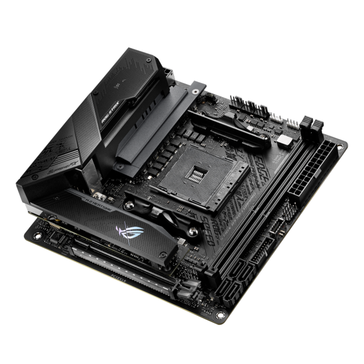 Placa Mãe ASUS ROG Strix B550-I Gaming, Chipset B550, AMD AM4, WI-Fi, Mini-ITX, DDR4, 90MB14L0-M0EAY0