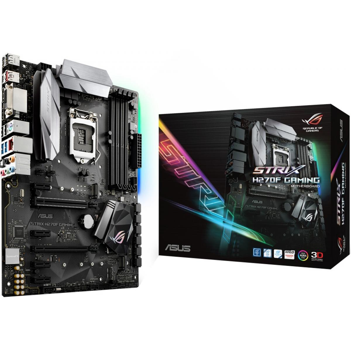 Placa Mãe Asus ROG Strix H270F Gaming, Chipset H270, Intel LGA 1151, ATX, DDR4