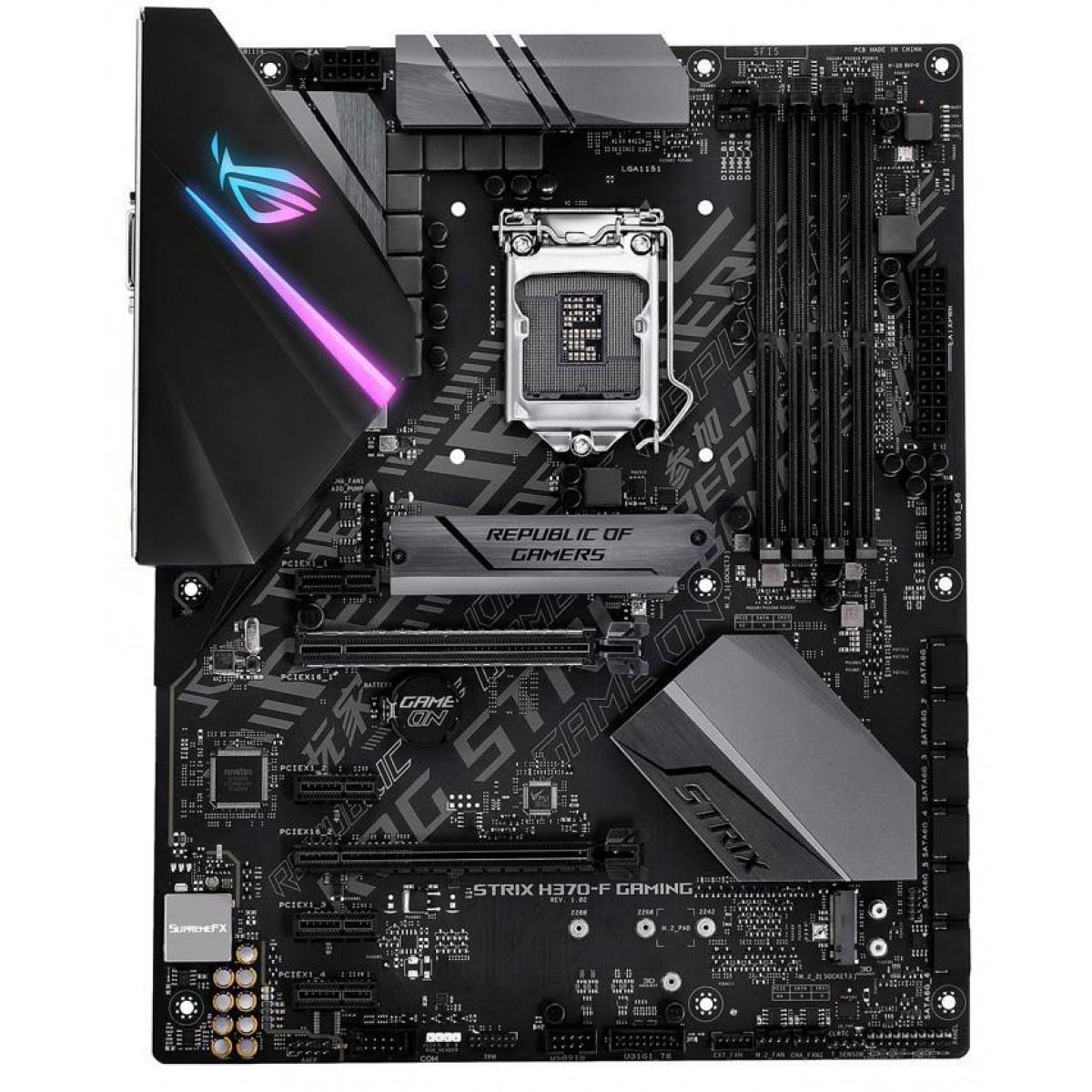 Placa Mãe Asus ROG STRIX H370-F Gaming, Chipset H370, Intel LGA 1151, ATX, DDR4