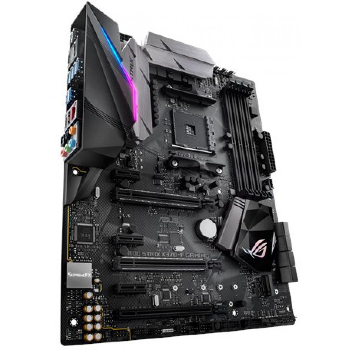 Placa Mãe Asus ROG STRIX X370-F GAMING, Chipset X370, AMD AM4, ATX, DDR4