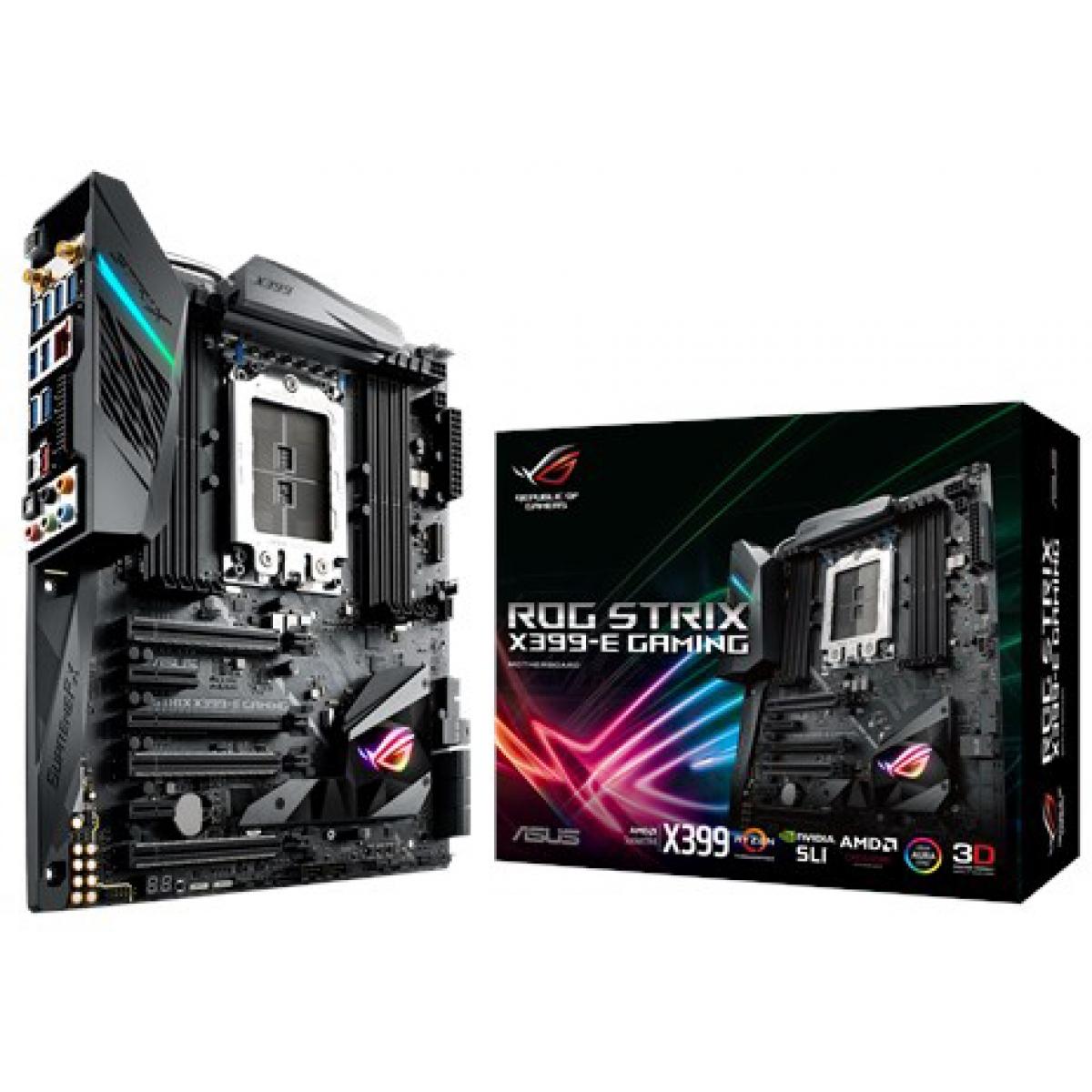 Placa Mãe Asus Rog Strix X399-E Gaming, Chipset X399, AMD TR4, E-ATX, DDR4