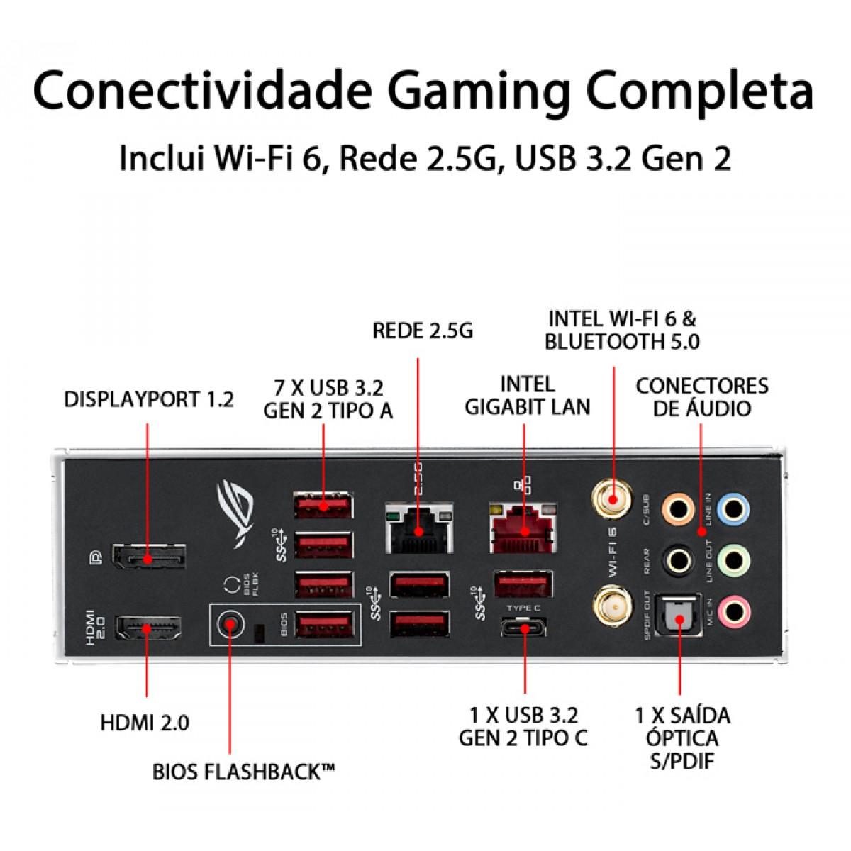 Placa Mãe Asus Rog Strix X570-E Gaming, Chipset X570, AMD AM4, ATX, DDR4