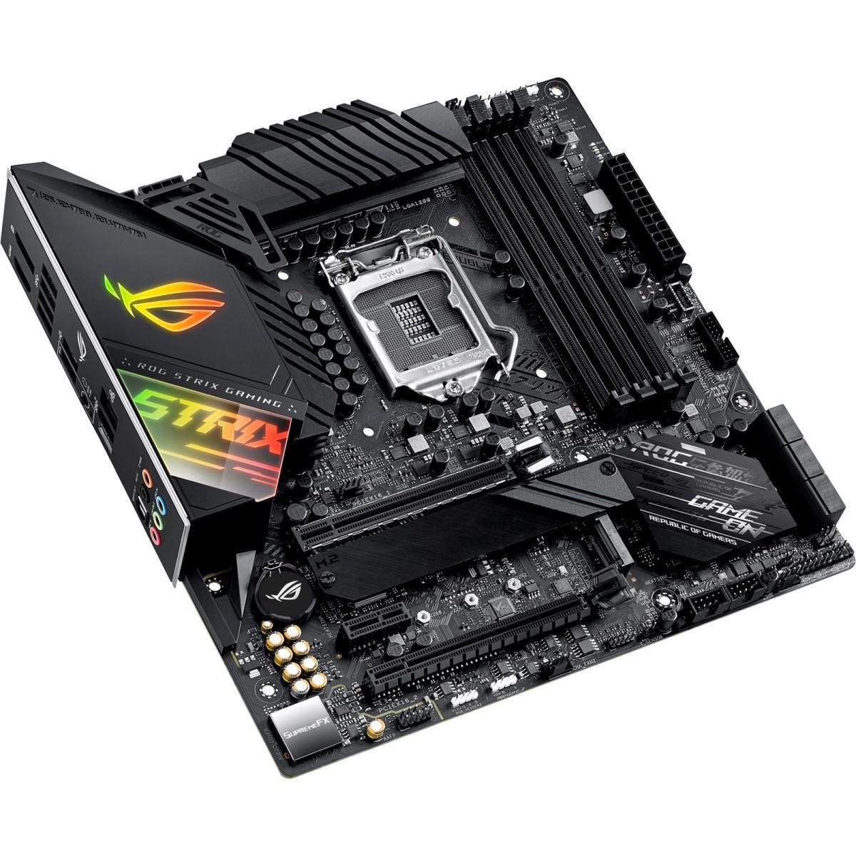 Placa Mãe Asus Rog Strix Z490-G Gaming, Chipset Z490, Intel LGA 1200, mATX, DDR4