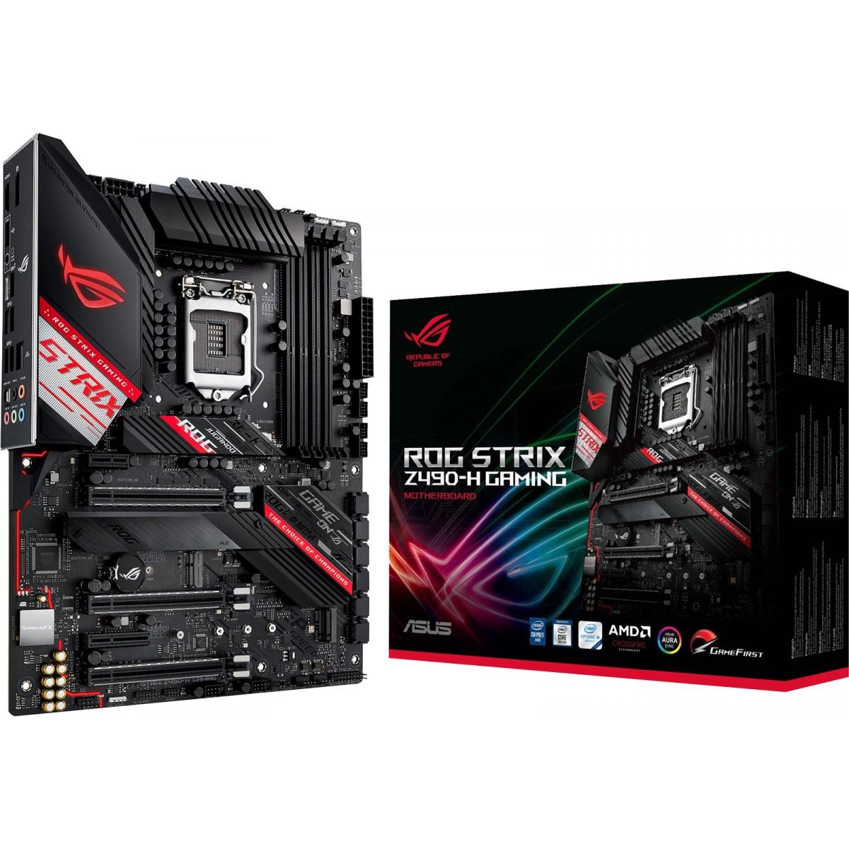 Placa Mãe Asus Rog Strix Z490-H Gaming, Chipset Z490, Intel LGA 1200, ATX, DDR4