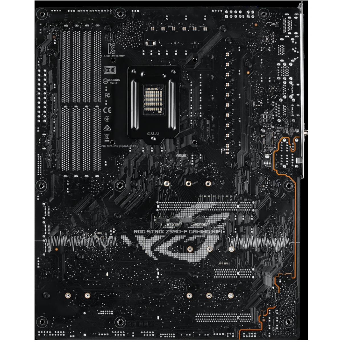 Placa Mãe Asus ROG STRIX Z590-F Gaming WIFI, Chipset Z590, Intel LGA 1200, ATX, DDR4, 90MB1630-M0EAY0