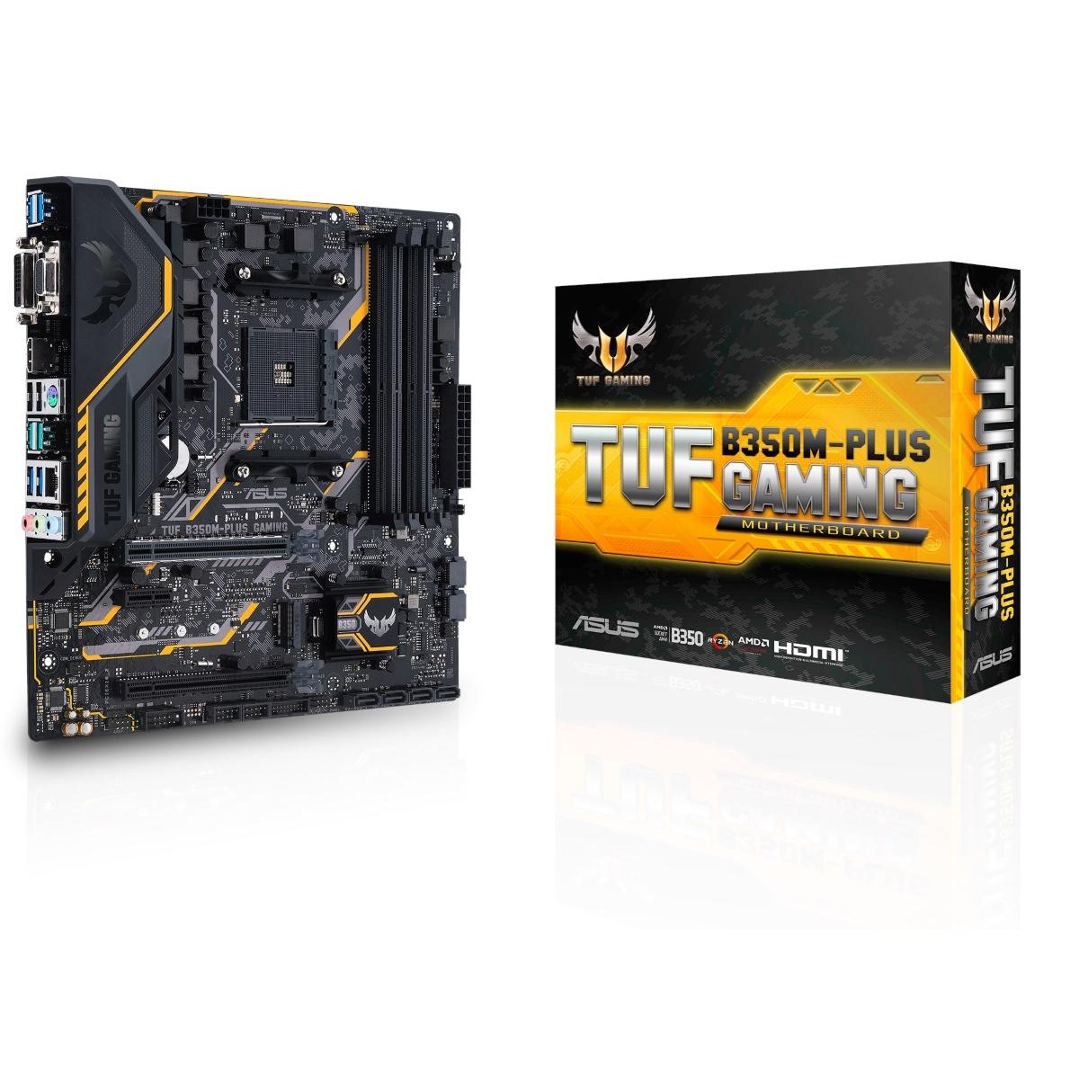 Placa Mãe Asus TUF B350M-PLUS GAMING, Chipset B350, AMD AM4, mATX, DDR4
