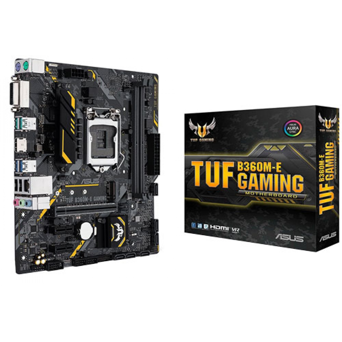 Placa Mãe Asus TUF B360M-E Gaming, Chipset B360, Intel LGA 1151, mATX, DDR4
