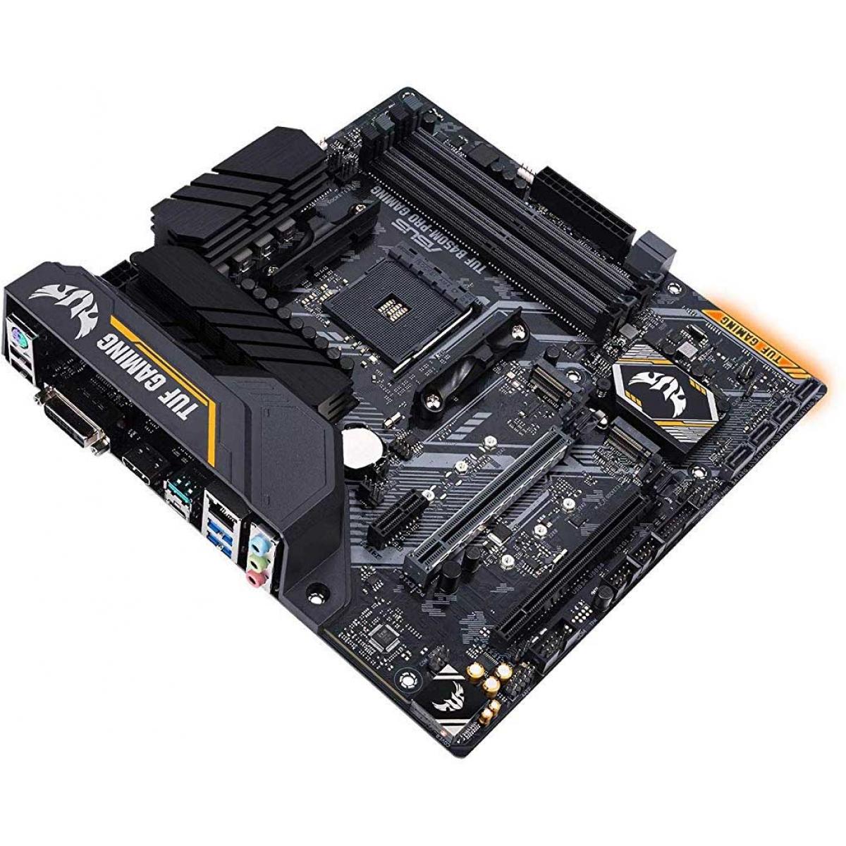 Placa Mãe Asus TUF B450M-PRO GAMING, Chipset B450, AMD AM4, mATX, DDR4