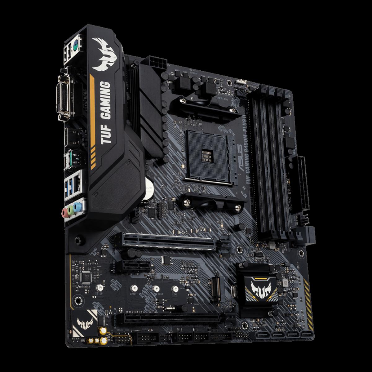 Placa Mãe Asus TUF GAMING B450M-PLUS II, Chipset B450, AMD AM4, mATX, DDR4, 90MB1620-M0EAY0