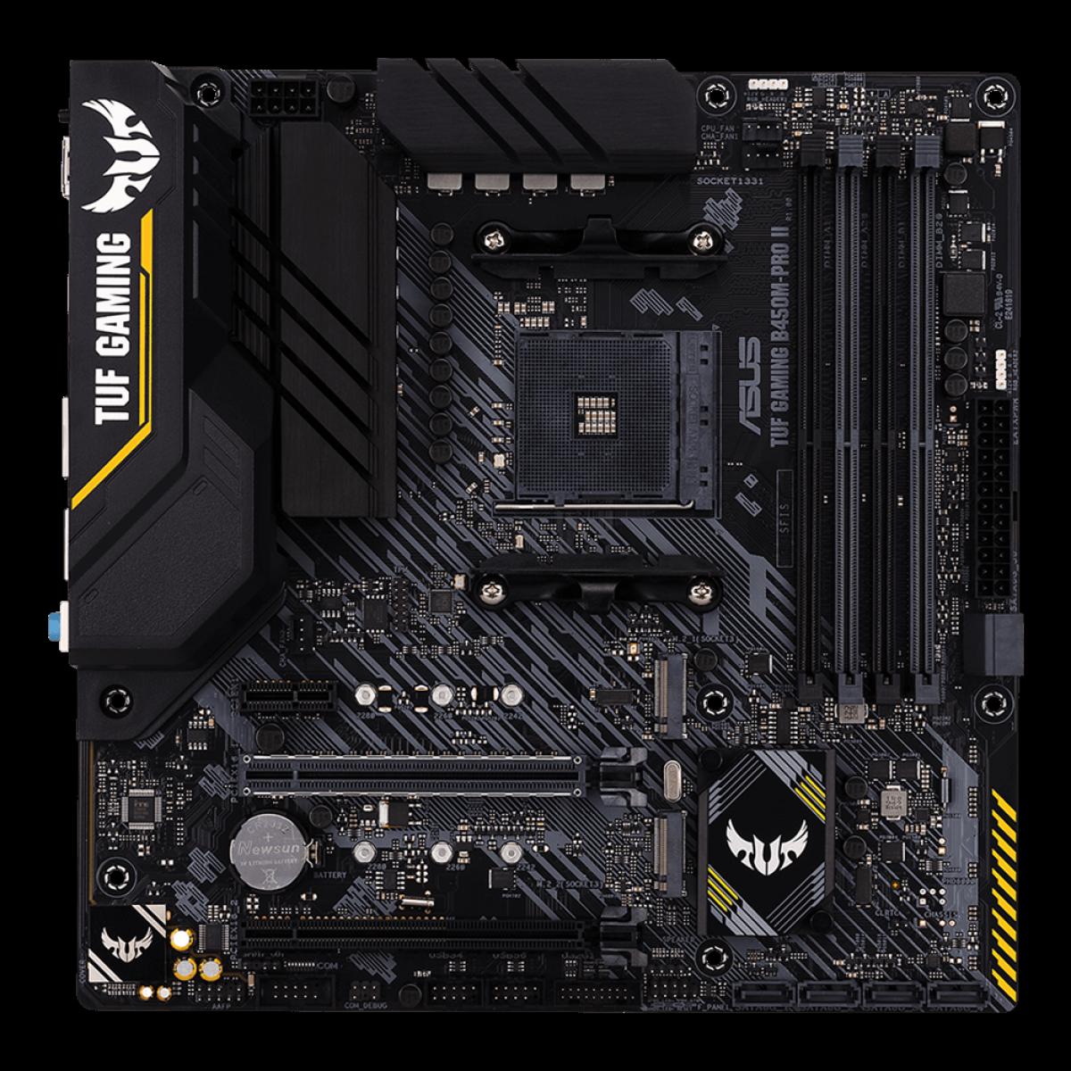 Placa Mãe ASUS TUF GAMING B450M-PRO II, Chipset B450, AMD AM4, mATX, DDR4, 90MB1610-M0EAY0