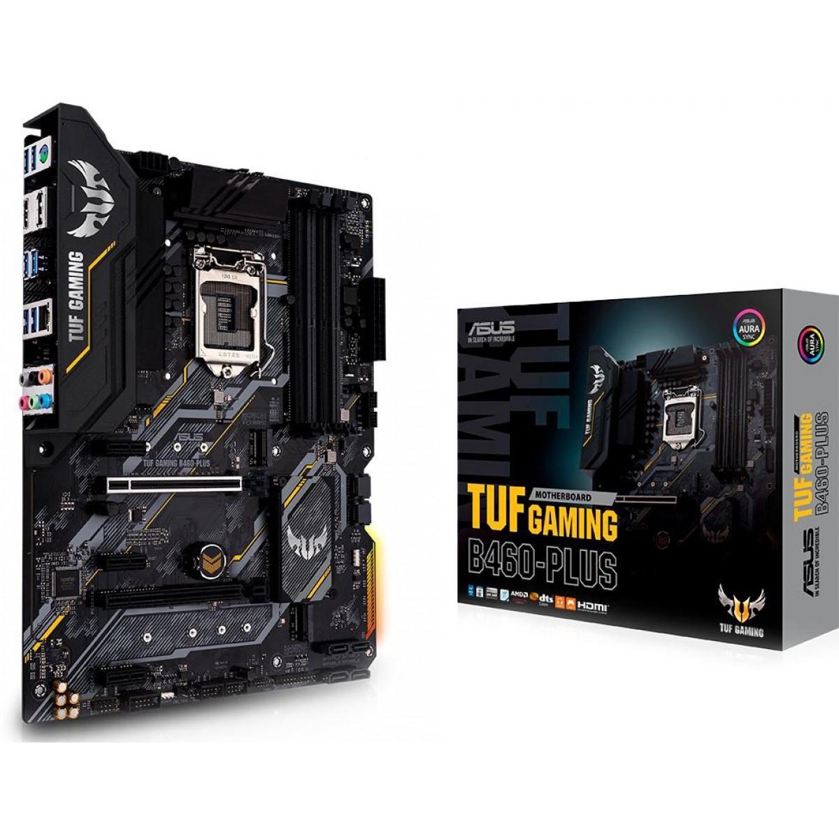 Placa Mãe Asus Tuf Gaming B460-Plus, Chipset B460, Intel LGA 1200, ATX, DDR4