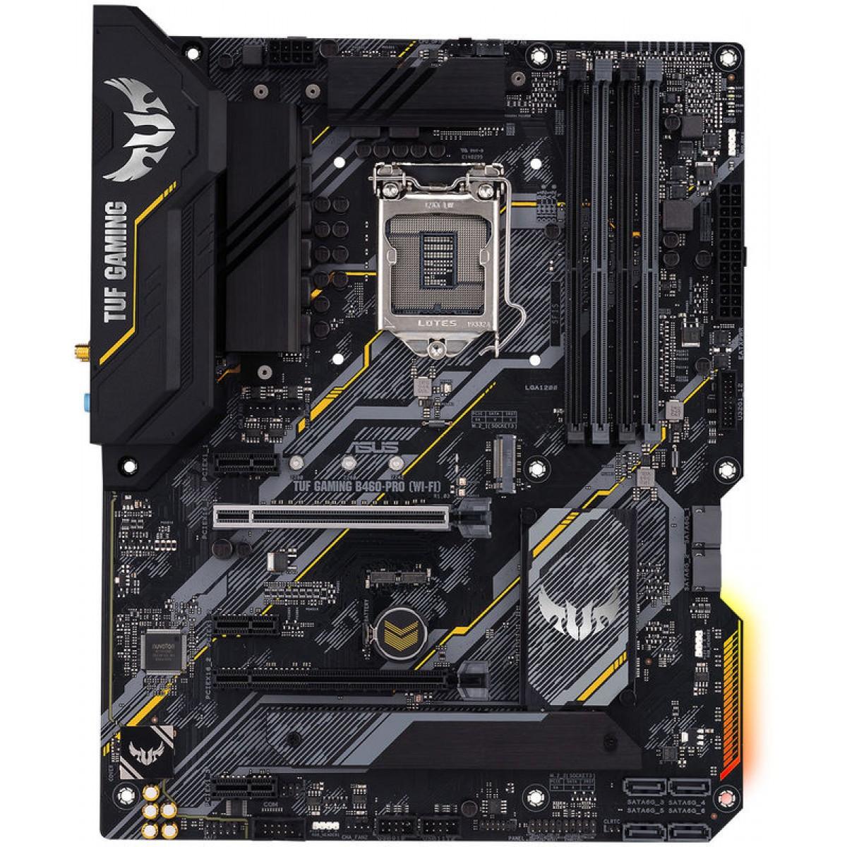Placa Mãe Asus Tuf Gaming B460-Pro Wi-Fi, Chipset B460, Intel LGA 1200, ATX, DDR4