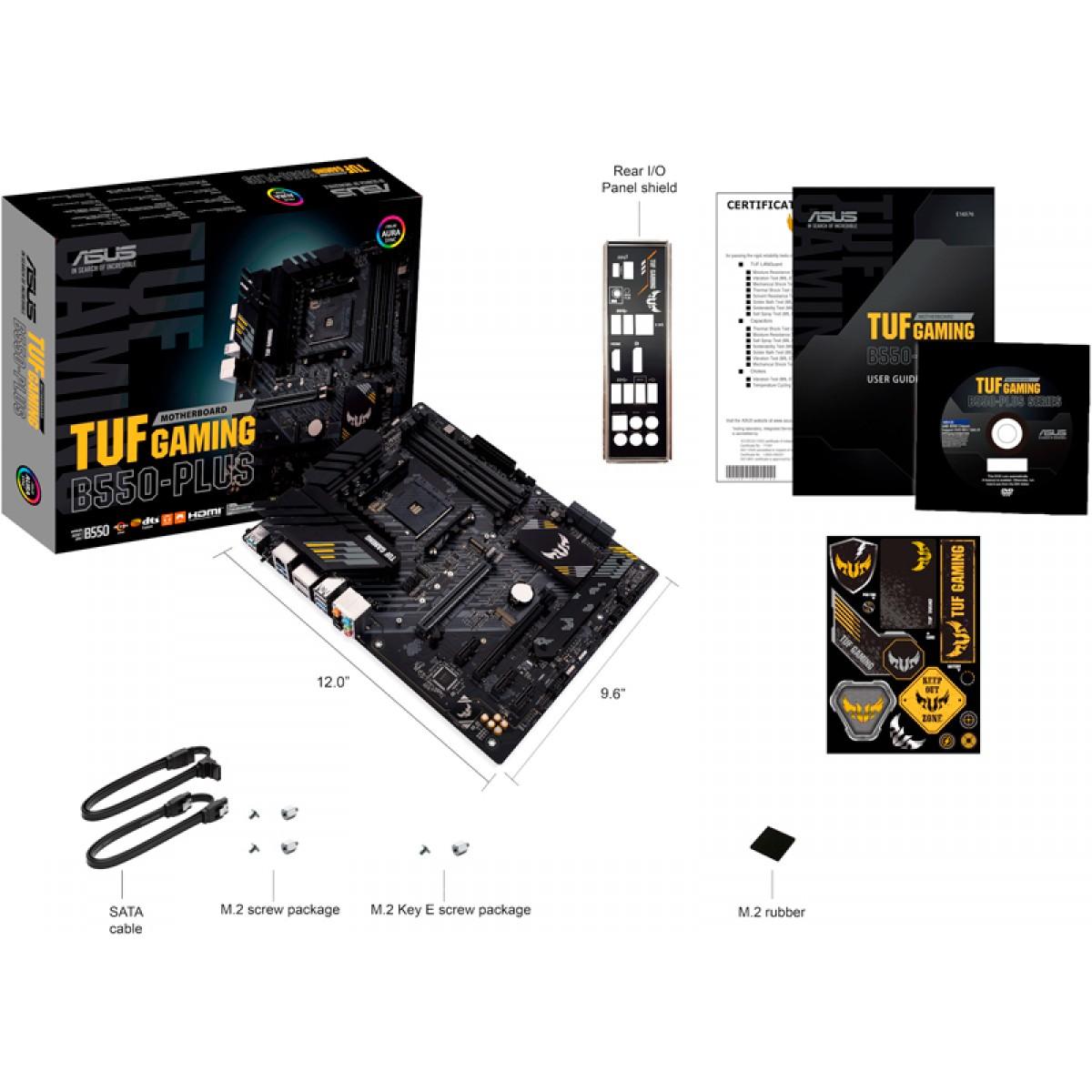 Placa Mãe Asus TUF Gaming B550-Plus, Chipset B550, AMD AM4, ATX, DDR4