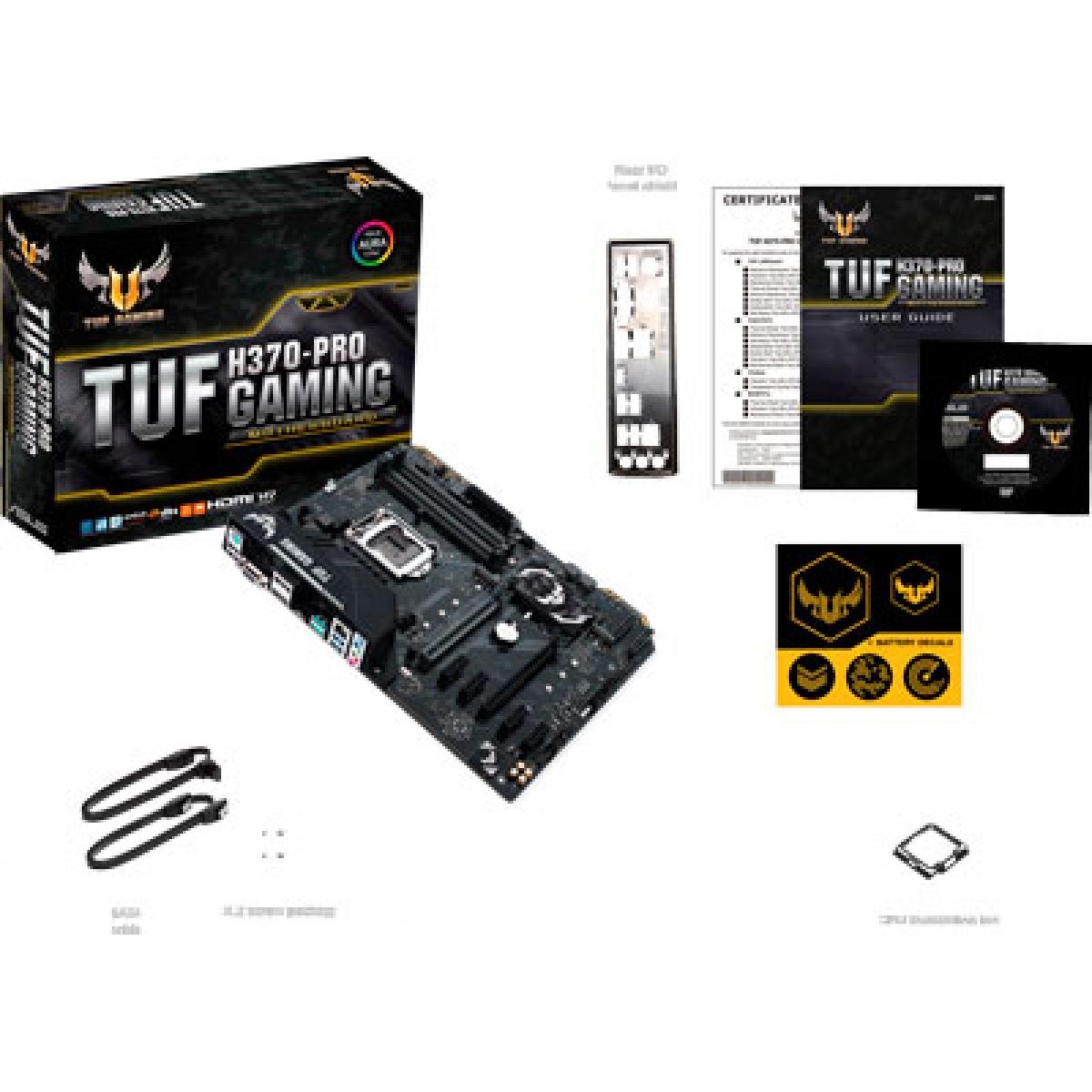 Placa Mãe Asus TUF H370-PRO Gaming, Chipset H370, Intel LGA 1151, ATX, DDR4