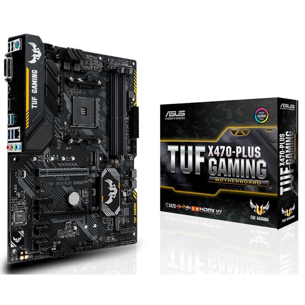 Placa Mãe Asus TUF X470-Plus Gaming, Chipset X470, AMD AM4, ATX, DDR4