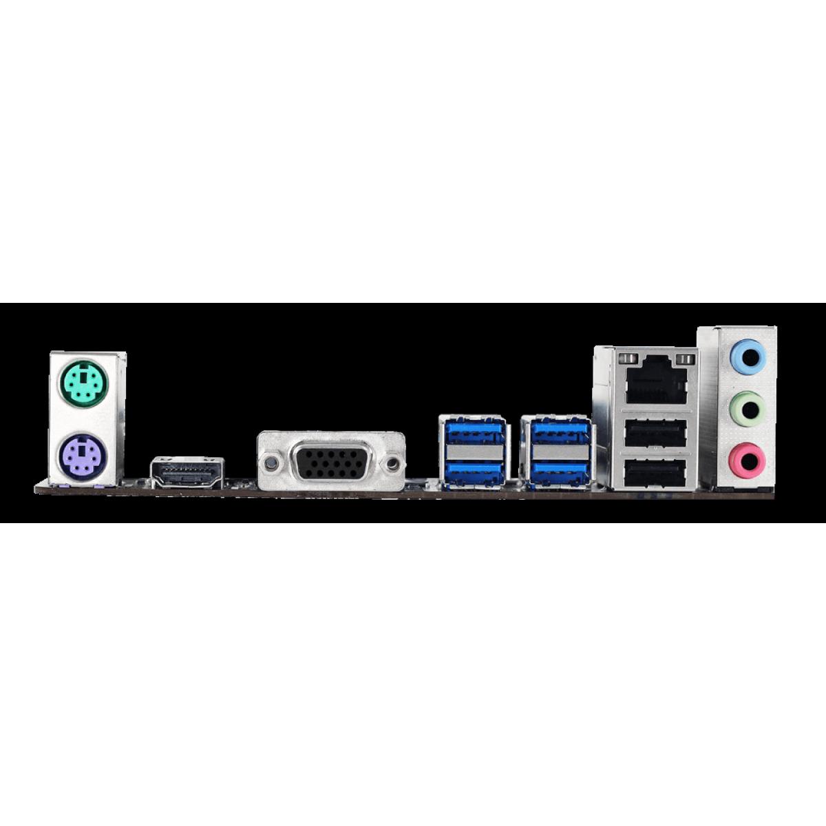 Placa Mãe Biostar A32M2, Chipset A320, AMD AM4, mATX, DDR4, AA32FM4S-R03-BS211X