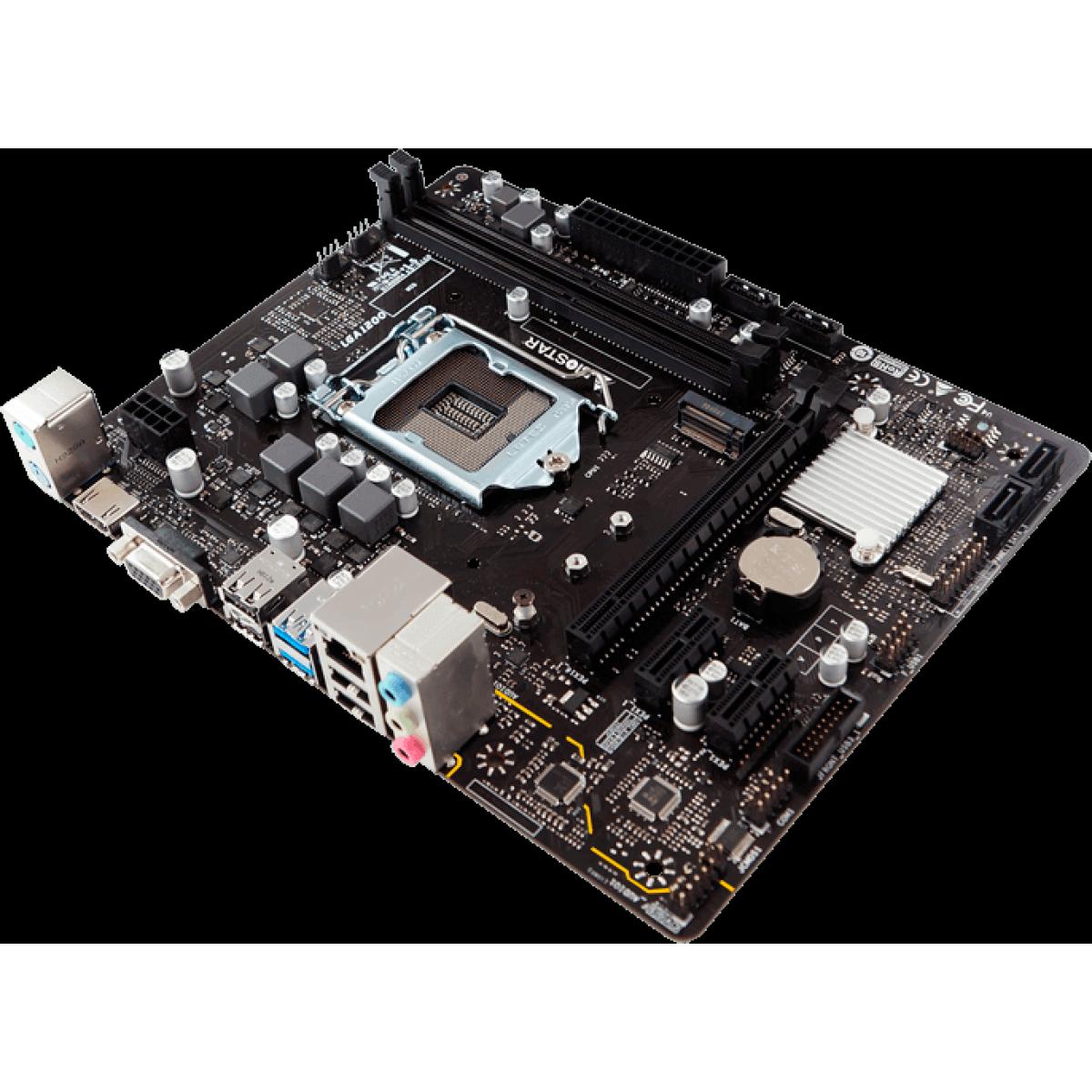 Placa Mãe Biostar H410MH VER 6.0, Chipset H410, Intel 1200, mATX, DDR4