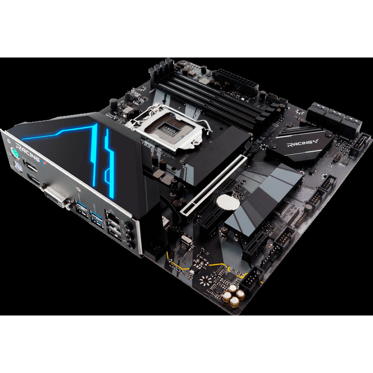 Placa Mãe Biostar Racing B460GTQ VER 5.0, Chipset B460, Intel 1200, mATX, DDR4