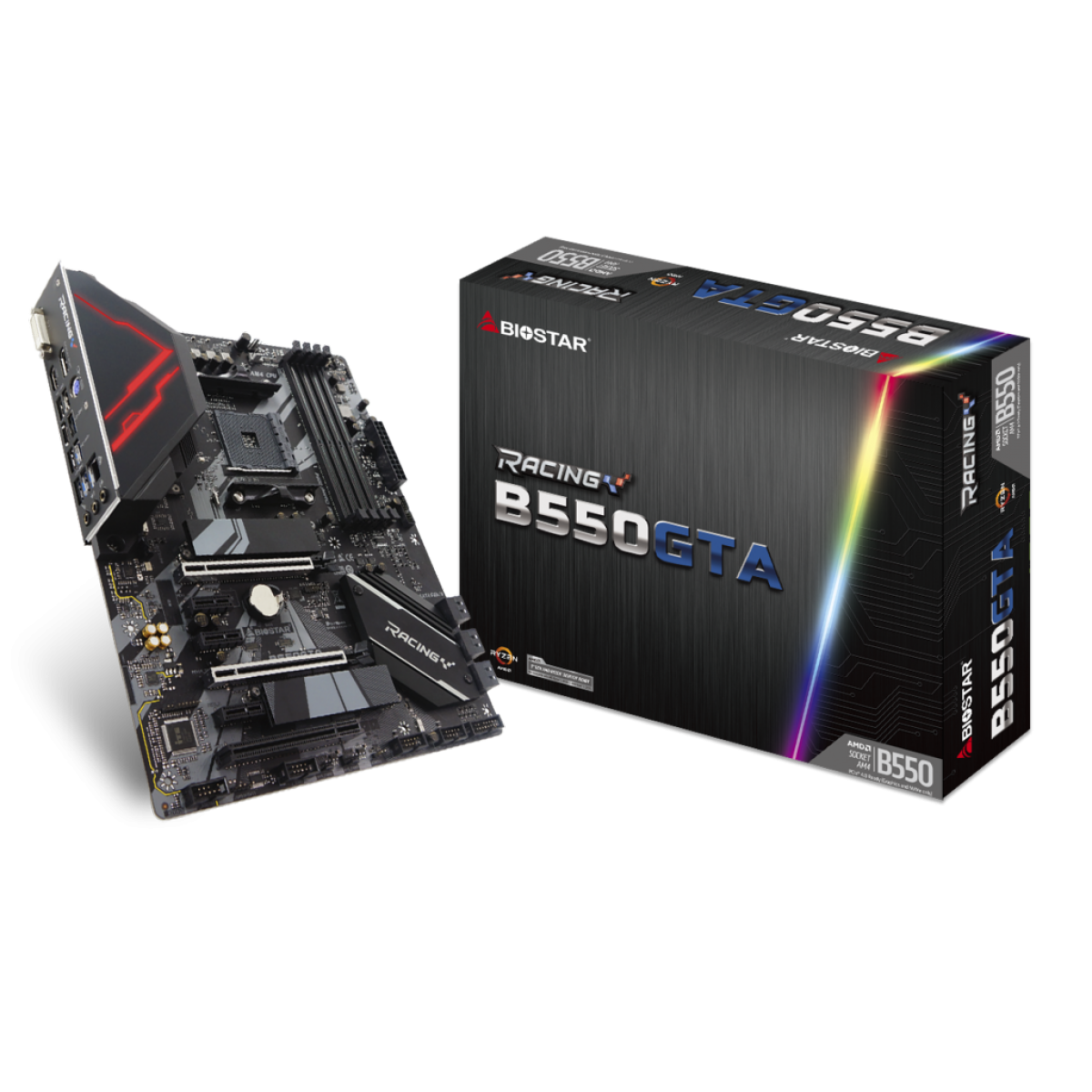 Placa Mãe Biostar Racing B550GTA, Chipset B550, AMD AM4, ATX, DDR4